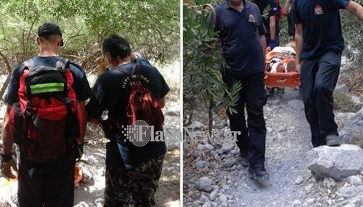 Φαράγγι Σαμαριάς: 30χρονος κατέρρευσε ενώ περπατούσε – Κλήθηκε ελικόπτερο