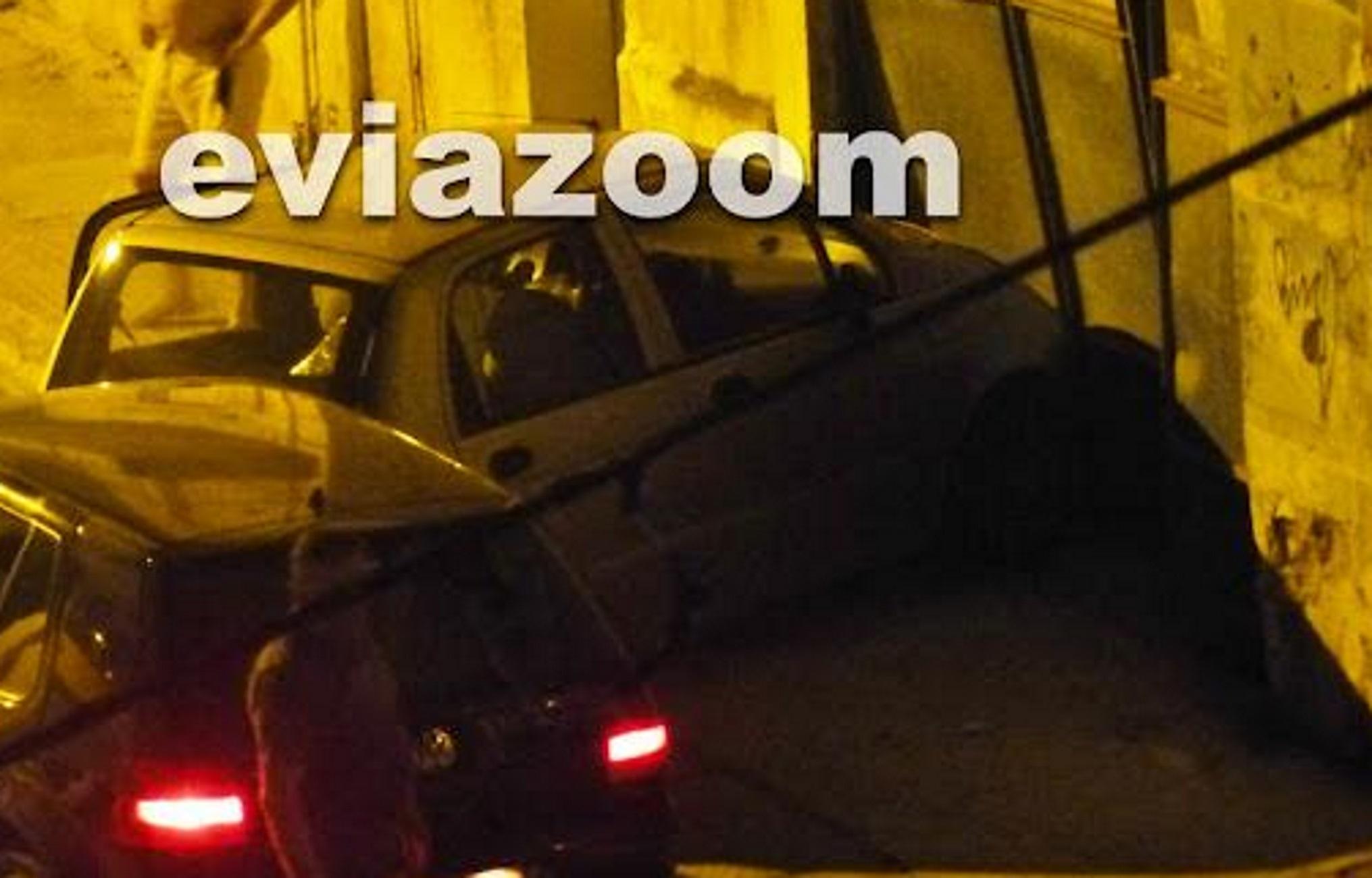 Εύβοια: Χτύπησε αυτοκίνητο και το έστειλε μέσα σε επιχείρηση – Η εξήγηση και οι εικόνες του τροχαίου