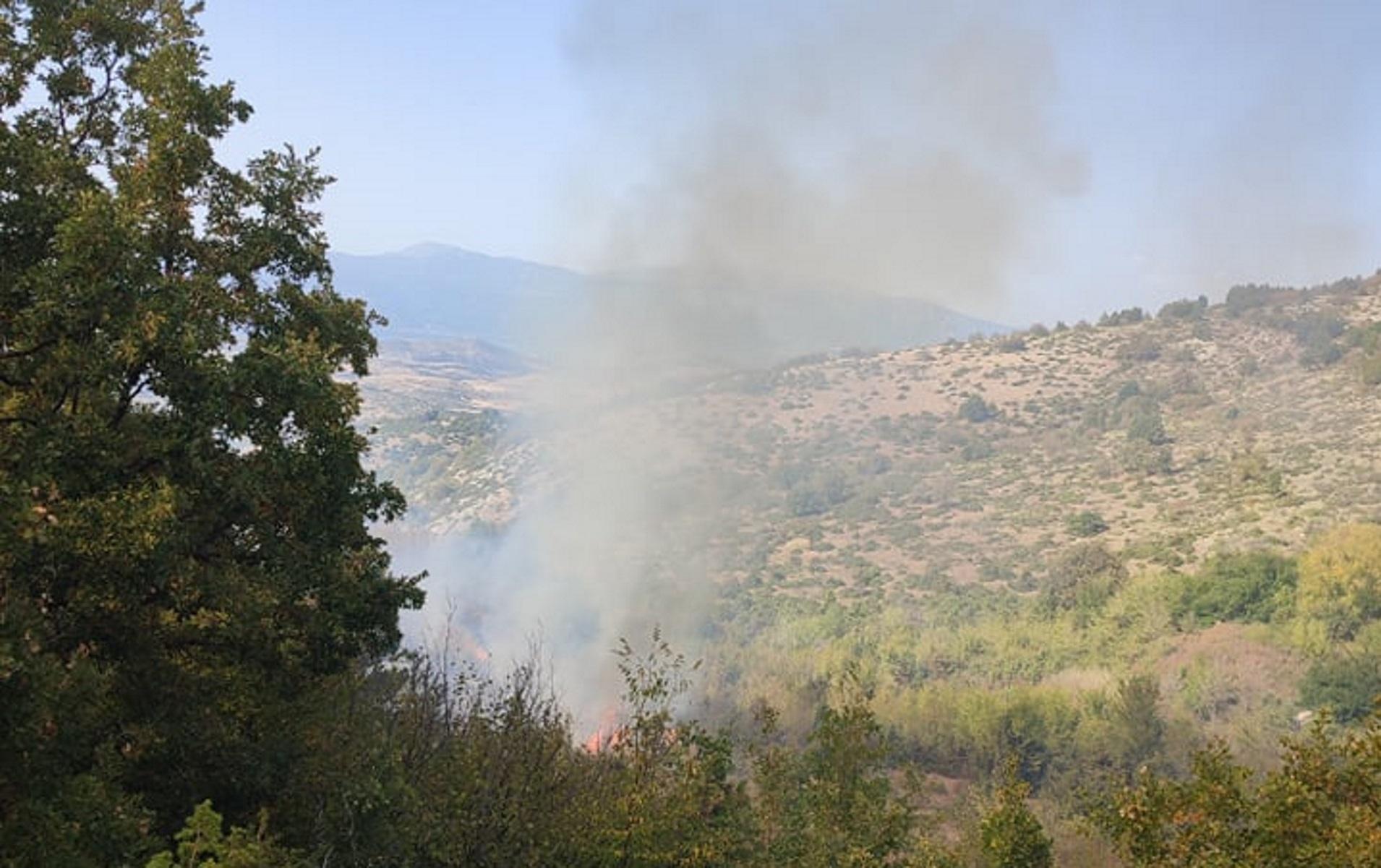 Φωτιά στην Κοζάνη – Σηκώθηκαν δύο αεροσκάφη