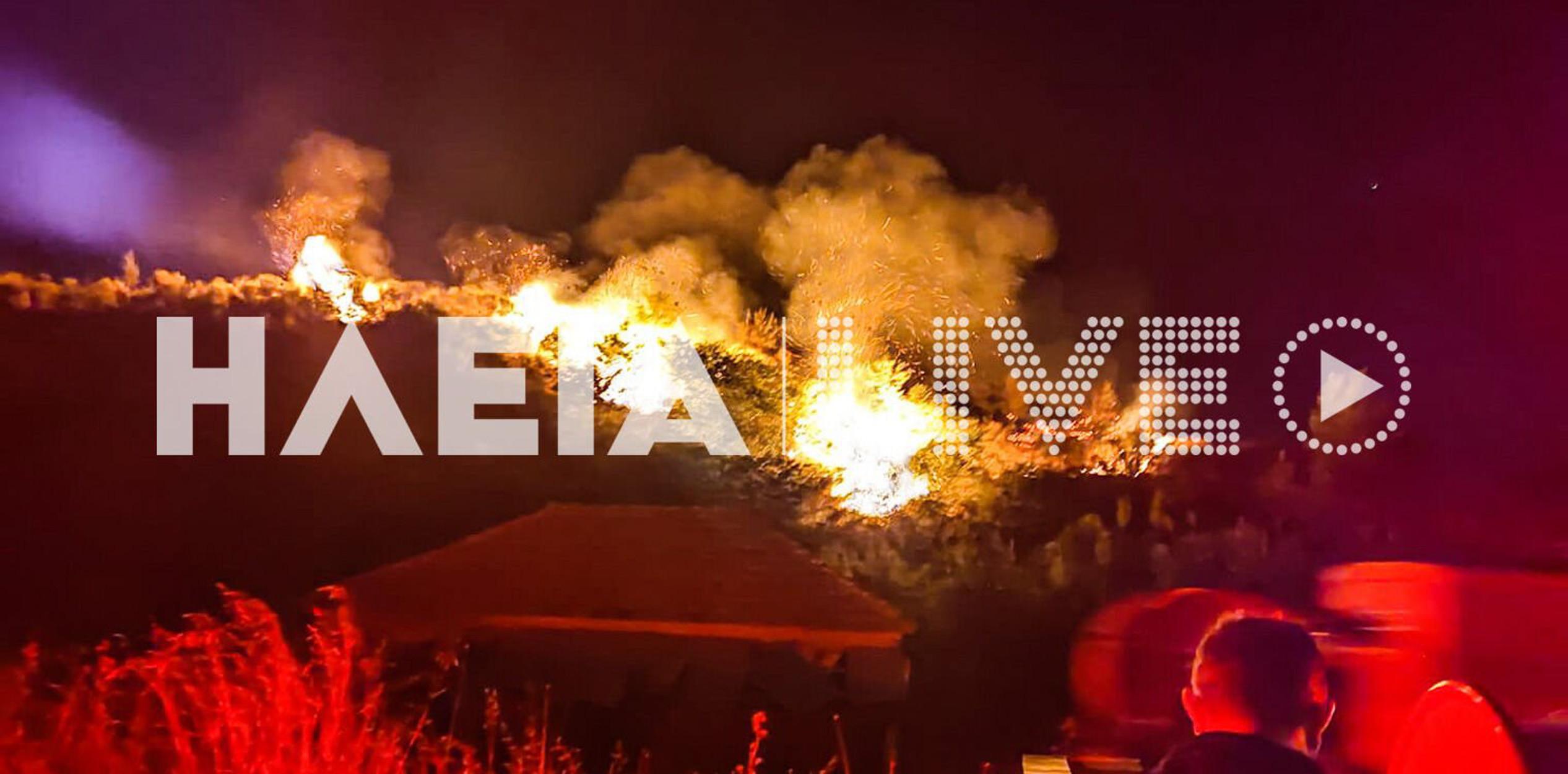 Ηλεία: Φωτιά στην Αγνάντα – Καίει σε δύσβατη περιοχή