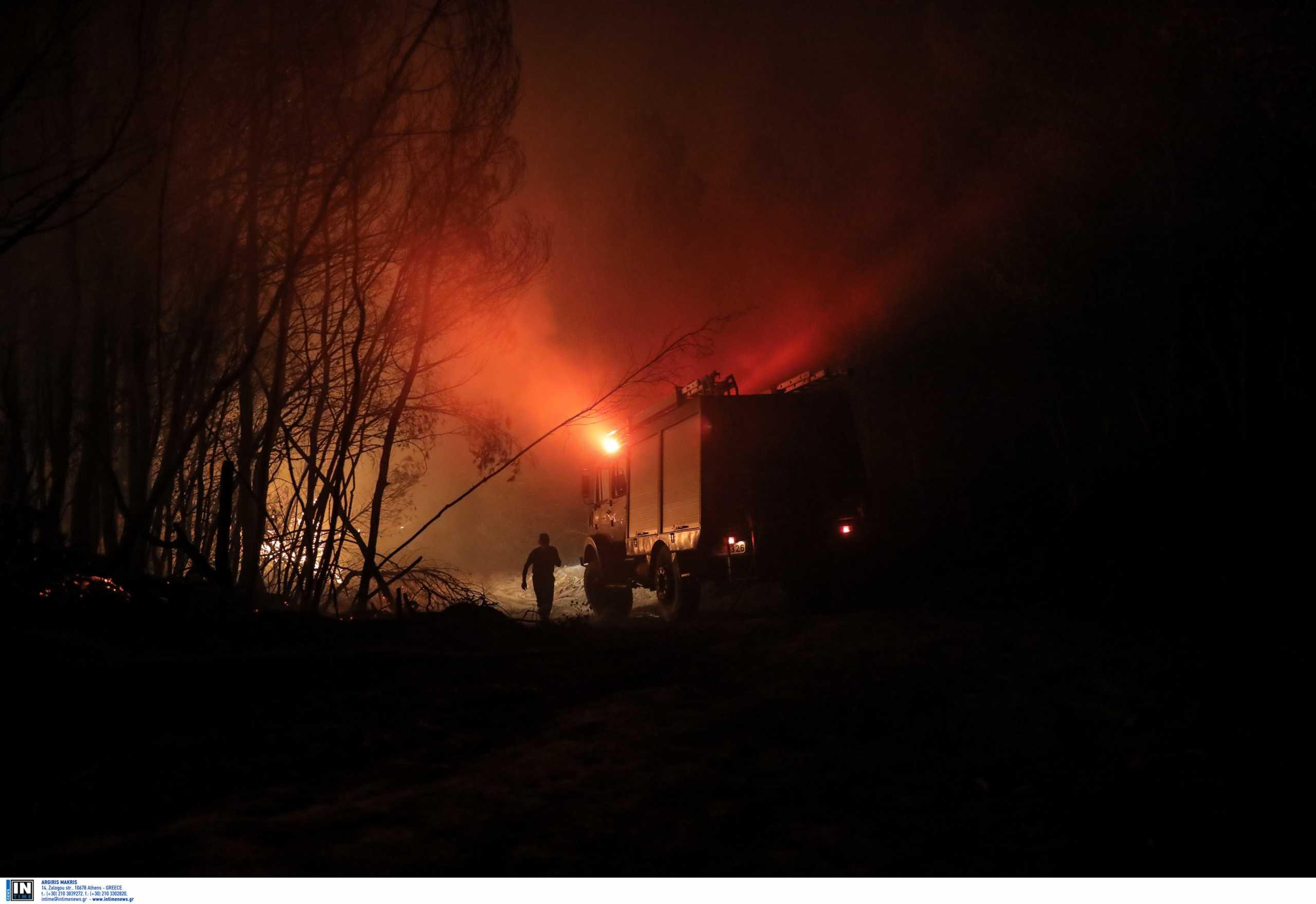 Κάρπαθος: Συνεχίζεται η μάχη με τις φλόγες - Έχει περιοριστεί η φωτιά σε μικρές εστίες
