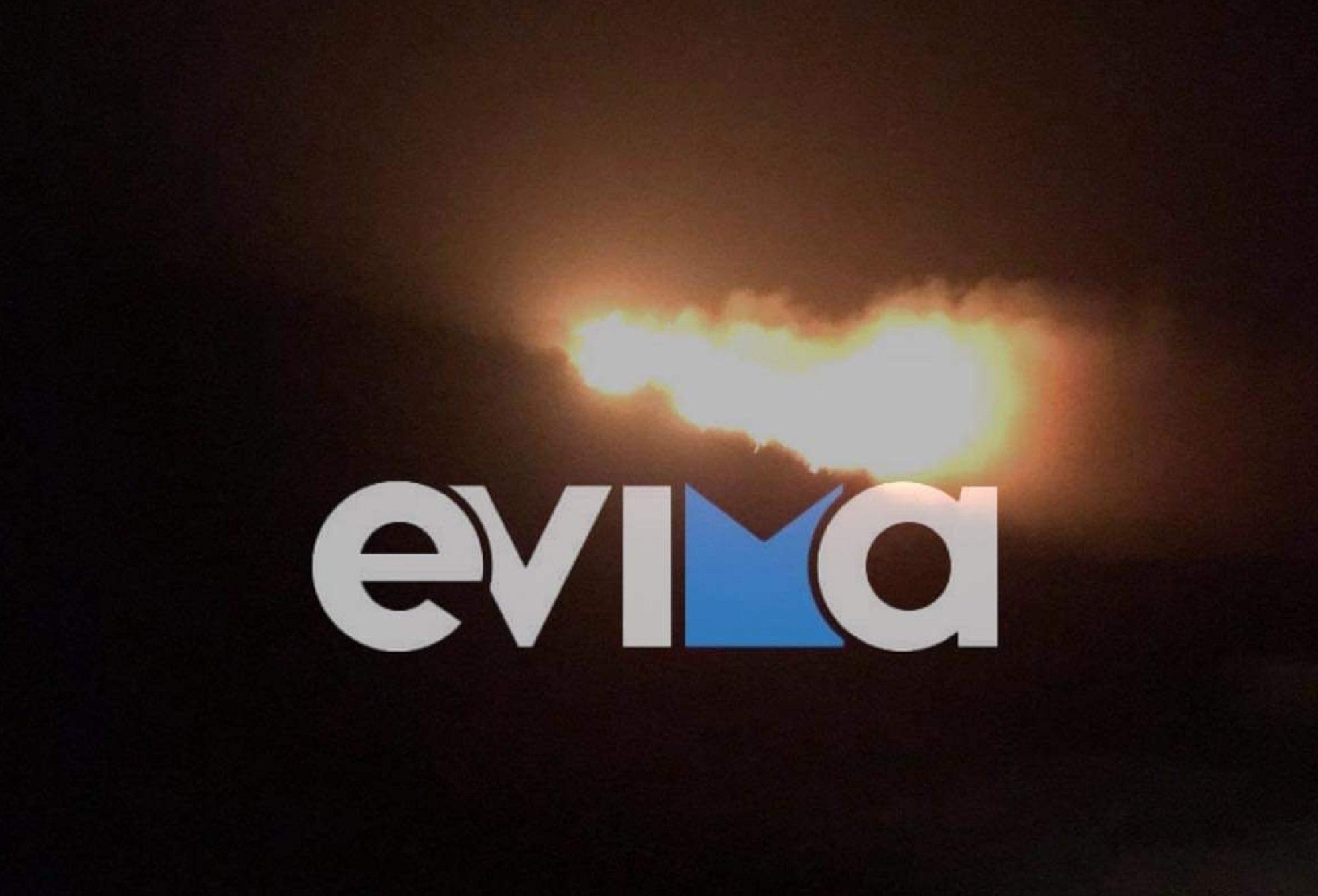 Φωτιά στην Κάρυστο – Σε δασική έκταση στο χωριό Θύμη