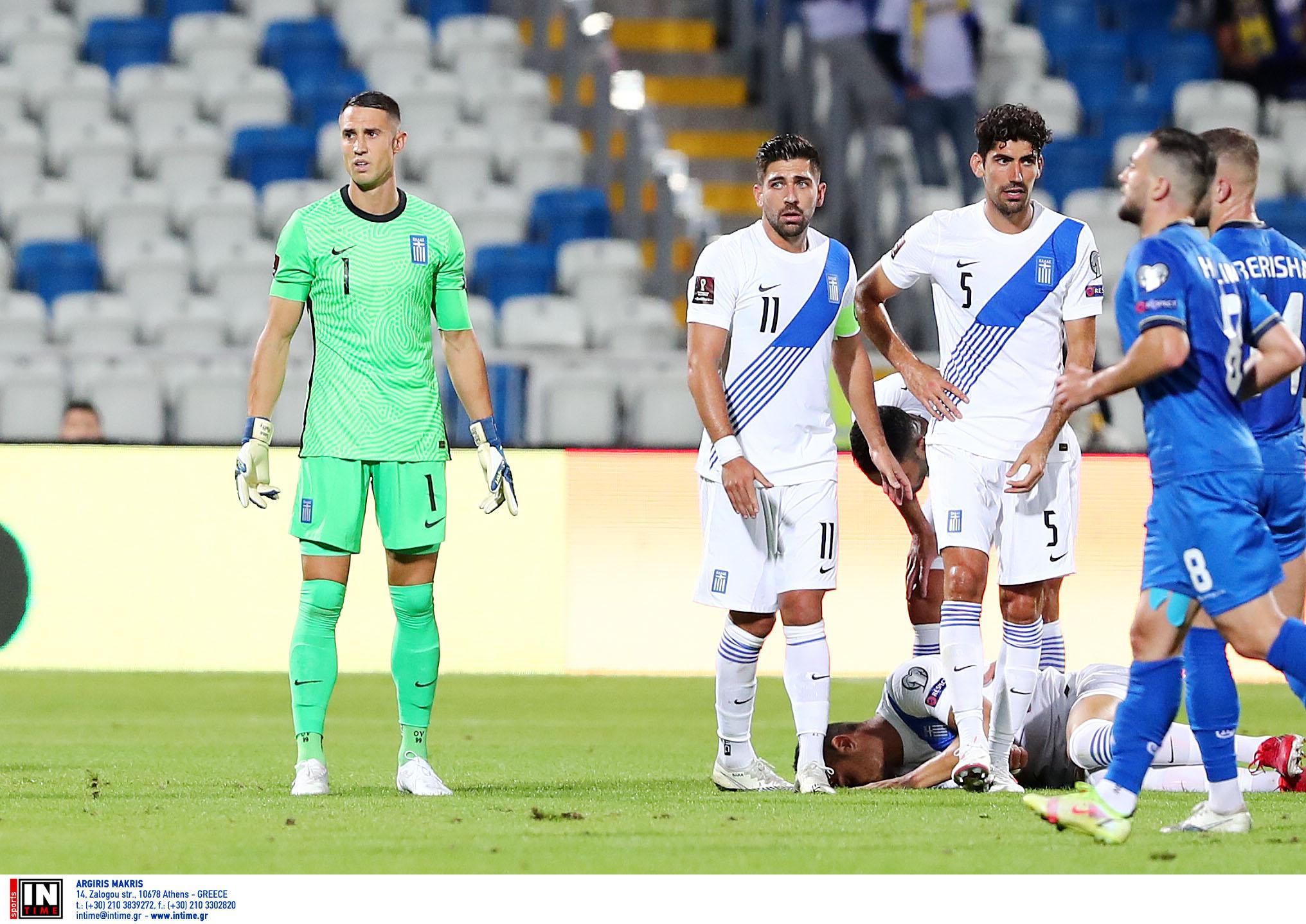 Κόσοβο – Ελλάδα 1-1: «Αυτοκτόνησε» η Εθνική χάνοντας τη νίκη στις καθυστερήσεις
