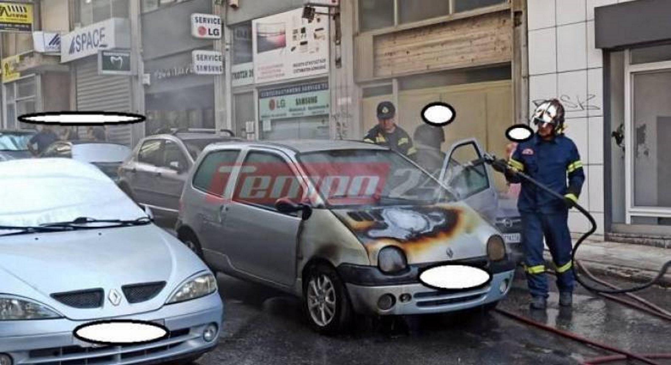 Πάτρα: «Φούντωσε» αυτοκίνητο – Πρόλαβε να βγει ο οδηγός