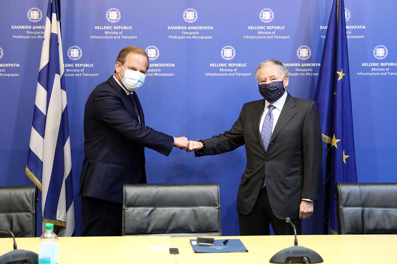 Συνάντηση Κώστα Καραμανλή με τον Πρόεδρο της FIA Jean Todt για την οδική ασφάλεια