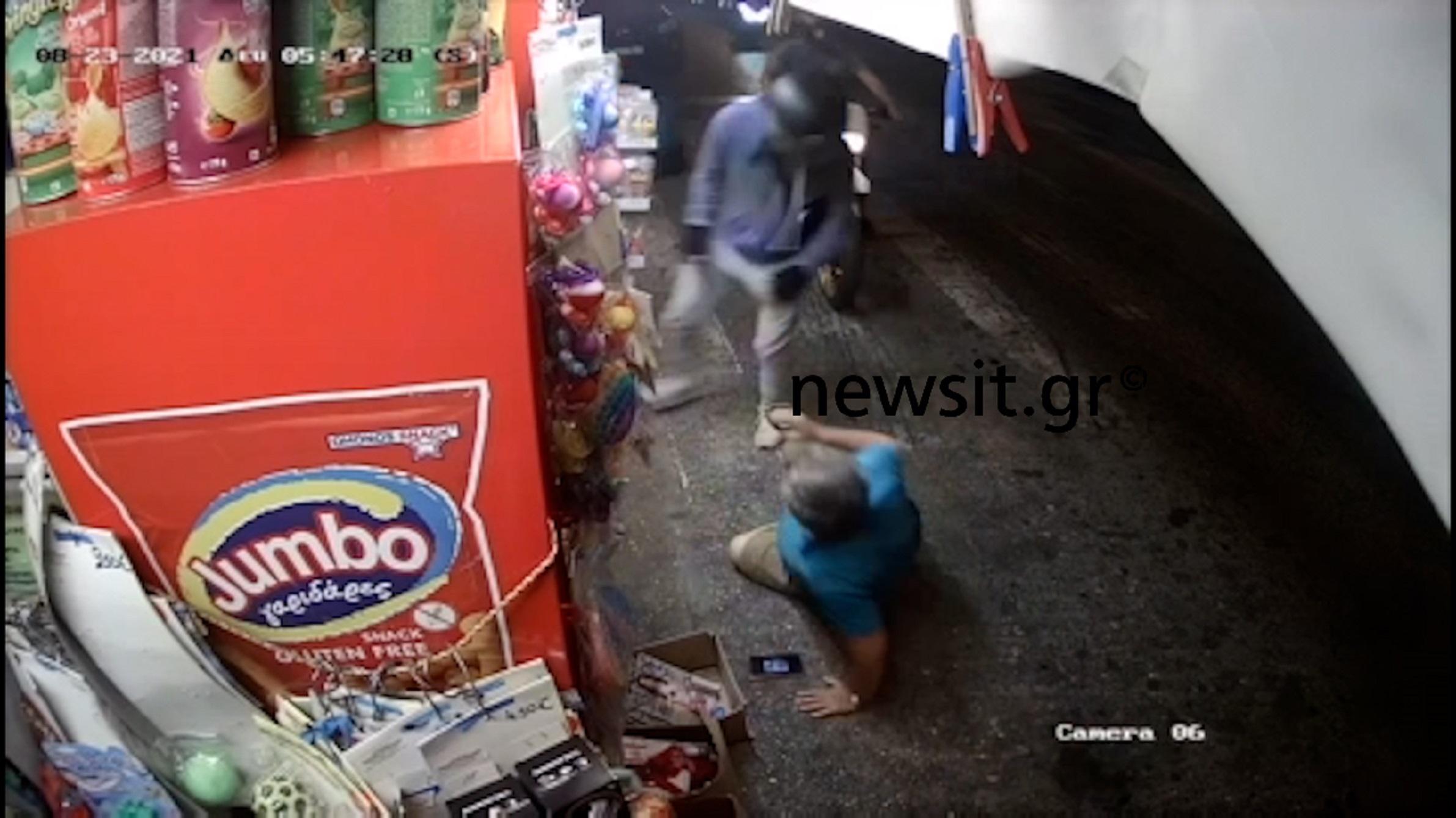 Βίντεο ντοκουμέντο από την ληστεία σε περίπτερο στο Παγκράτι