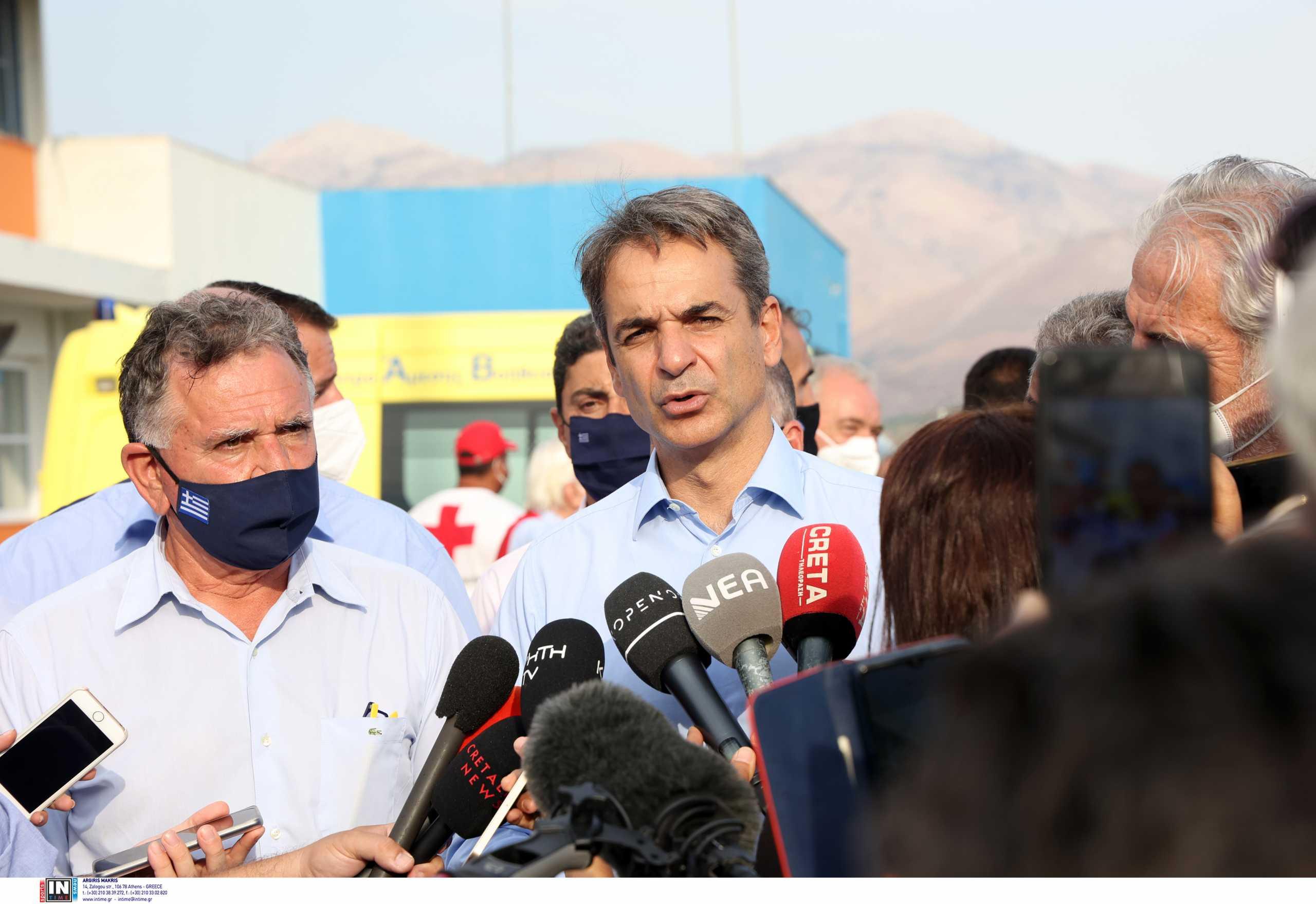 Κυριάκος Μητσοτάκης: Οι δηλώσεις του από τις σεισμόπληκτες περιοχές της Κρήτης