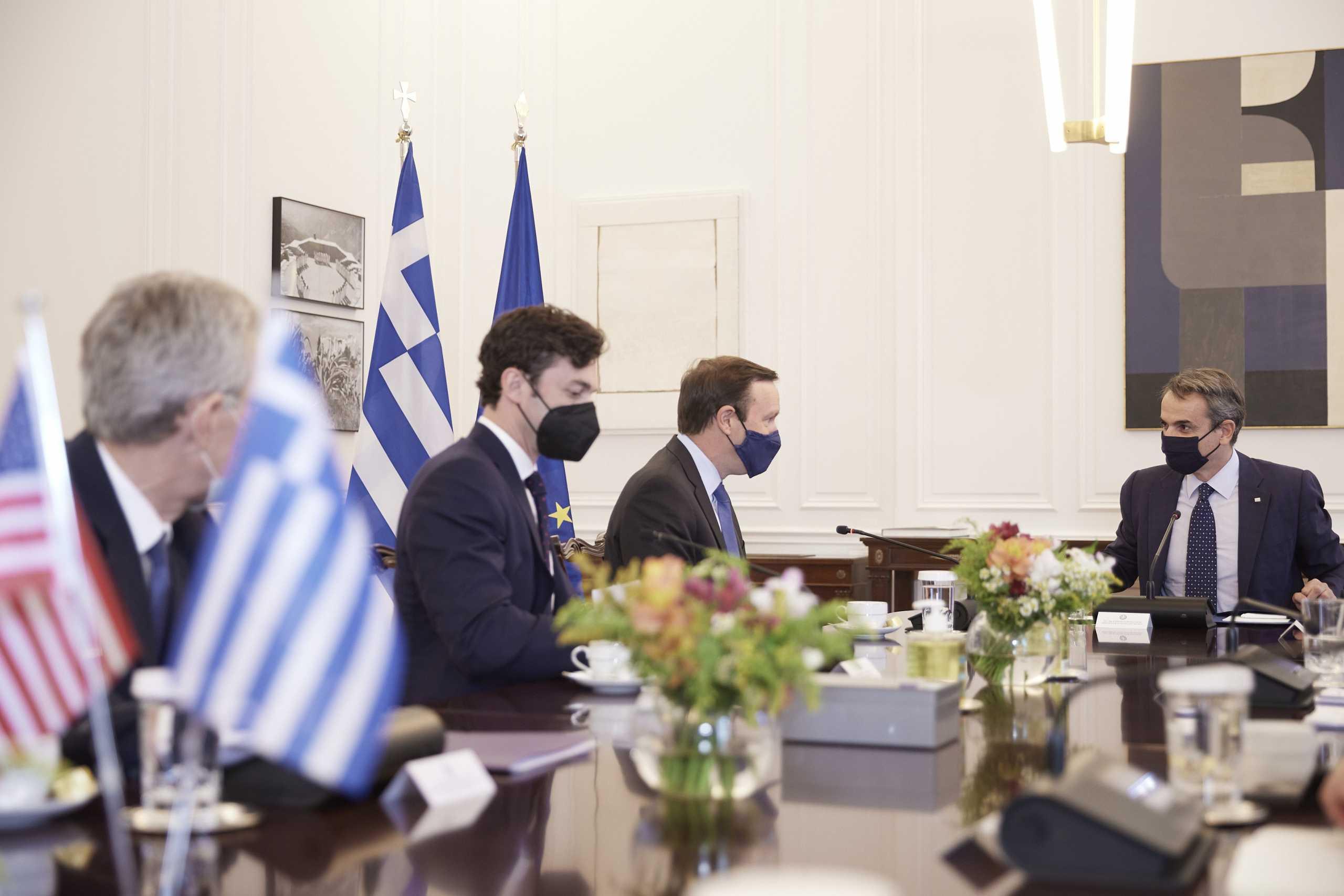 Κυριάκος Μητσοτάκης σε αμερικανούς γερουσιαστές: Δυνατή η σχέση Ελλάδας – ΗΠΑ