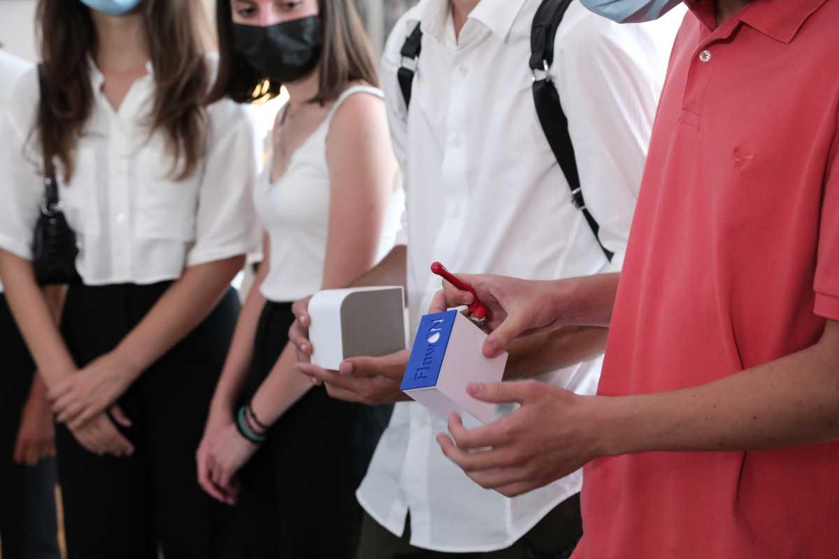 Συνάντηση Κυριάκου Μητσοτάκη με νέους που διακρίθηκαν σε Διαγωνισμούς Καινοτομίας και Επιχειρηματικότητας