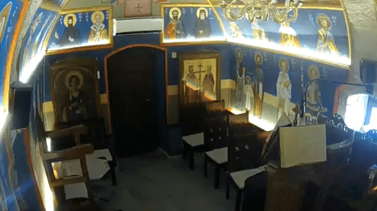 Σεισμός στην Κρήτη: Κάμερα εκκλησίας καταγράφει την ισχυρή δόνηση