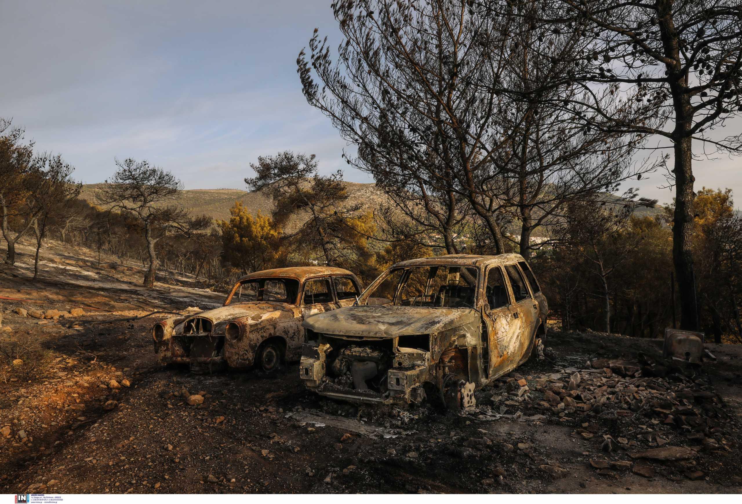 Φωτιά στην Νέα Μάκρη: Έσβησαν οι φλόγες, ξεκίνησαν οι… ανακρίσεις για εμπρησμό