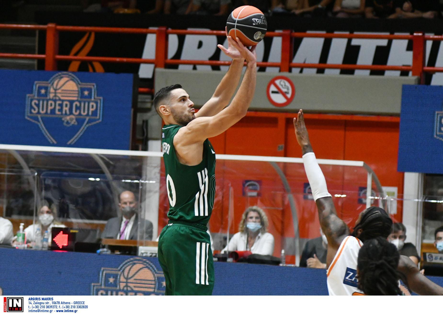Super Cup, Παναθηναϊκός – Προμηθέας 92-83: Πράσινος ο πρώτος τίτλος της σεζόν στο μπάσκετ