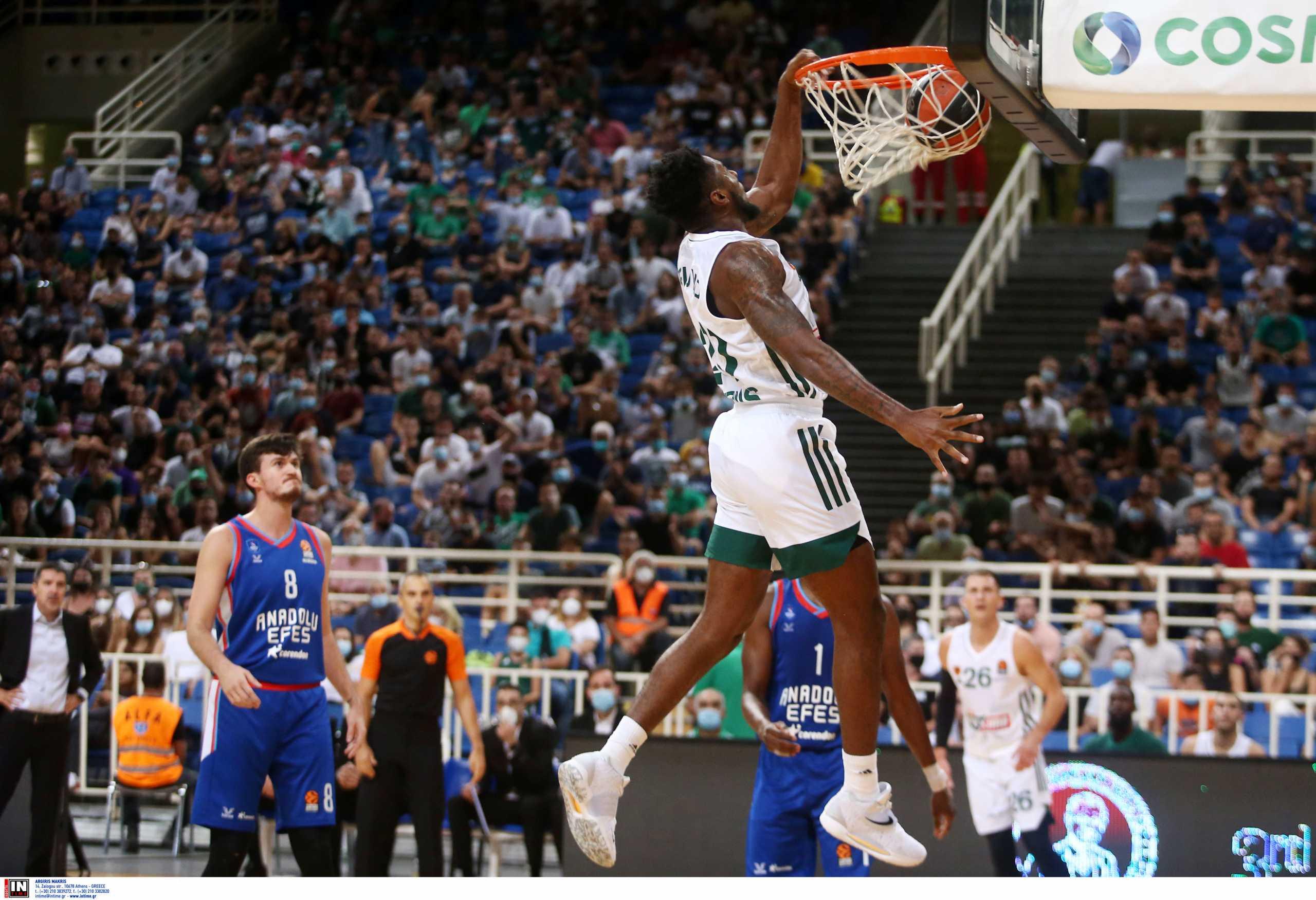 Παναθηναϊκός – Αναντολού Εφές 80-74: «Δάγκωσαν» την πρωταθλήτρια Ευρώπης οι «πράσινοι»