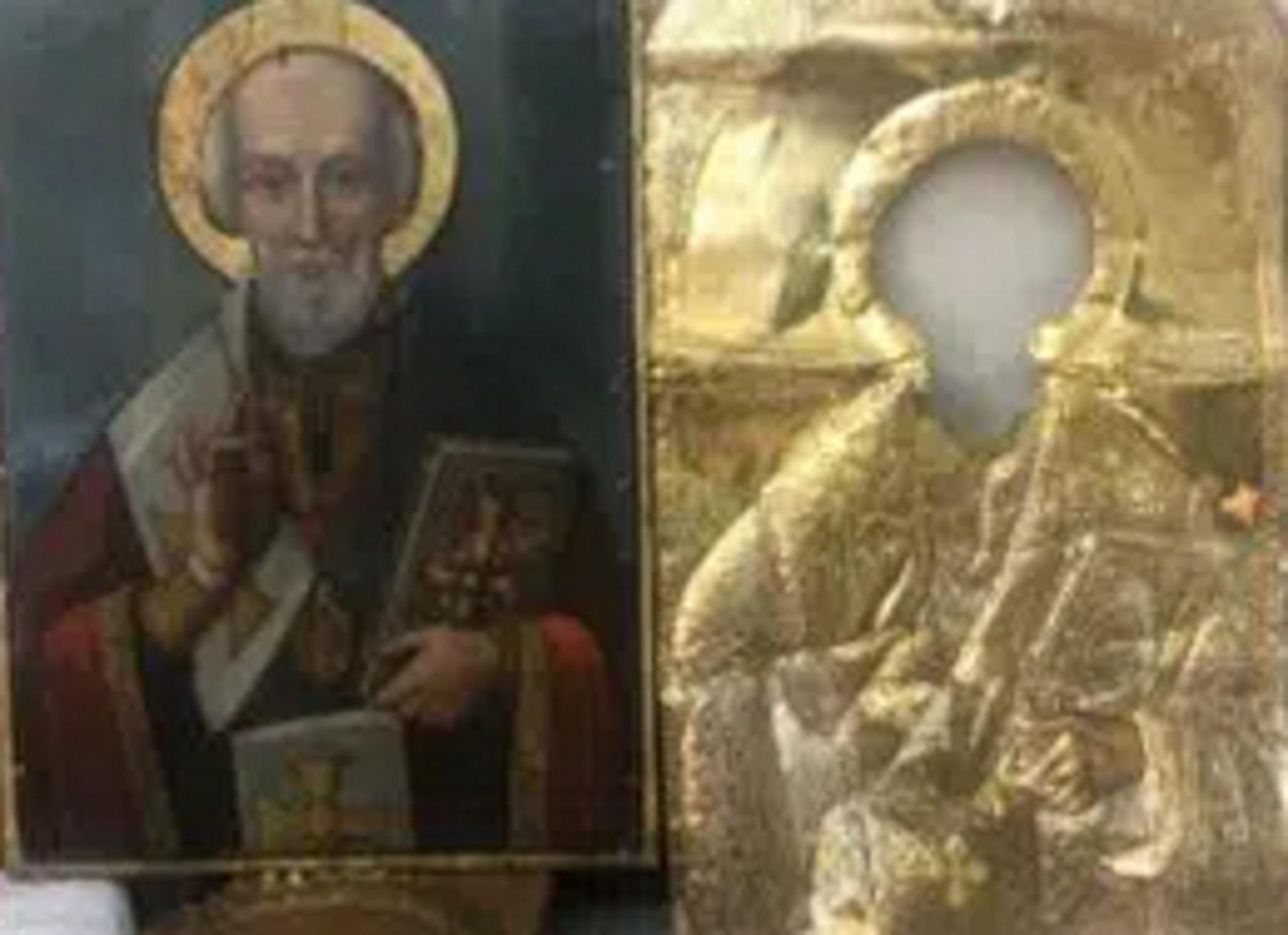 Πάτρα: Η ιστορία με αυτή την εικόνα του Αγίου Νικολάου που προκάλεσε συγκίνηση στους πιστούς