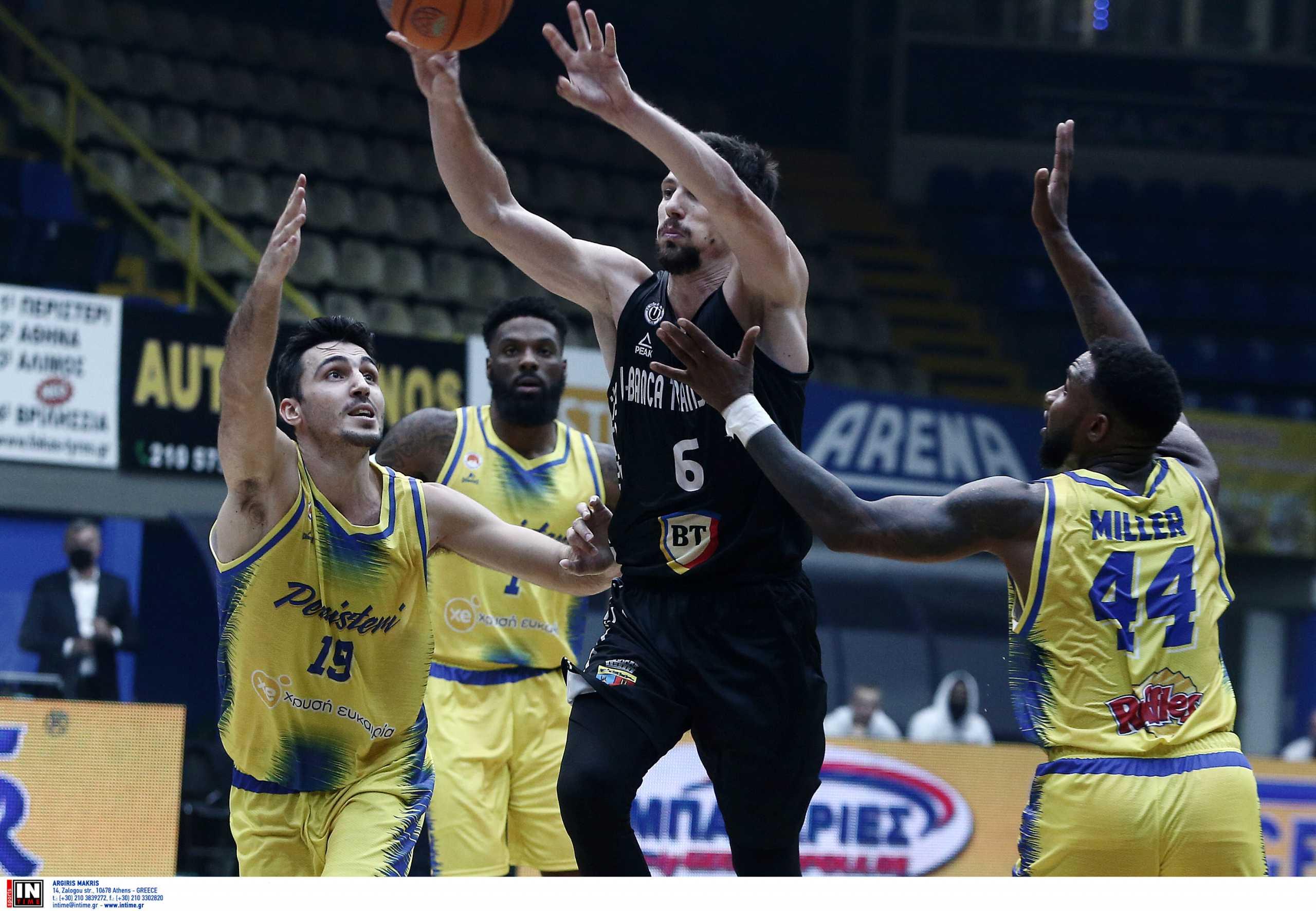 Περιστέρι – Κλουζ 74-84: Ήττα κι αποκλεισμός από το Basketball Champions League