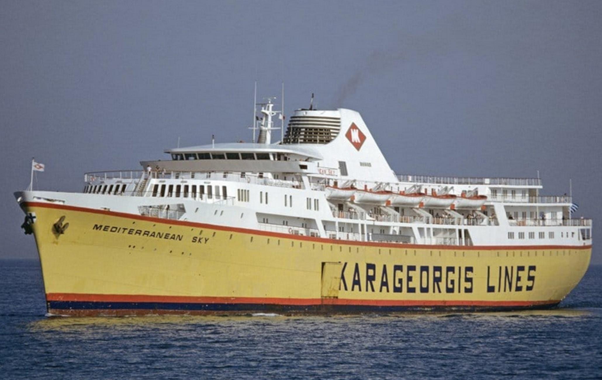 Πάτρα: Το θρυλικό «Mediterranean Sky» στο λιμάνι της νοσταλγίας – Η ιστορία του πλοίου στο χρόνο