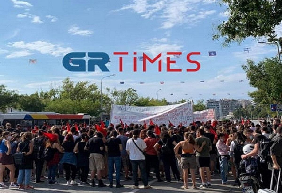 Θεσσαλονίκη: Πορεία φοιτητών στο κέντρο της πόλης