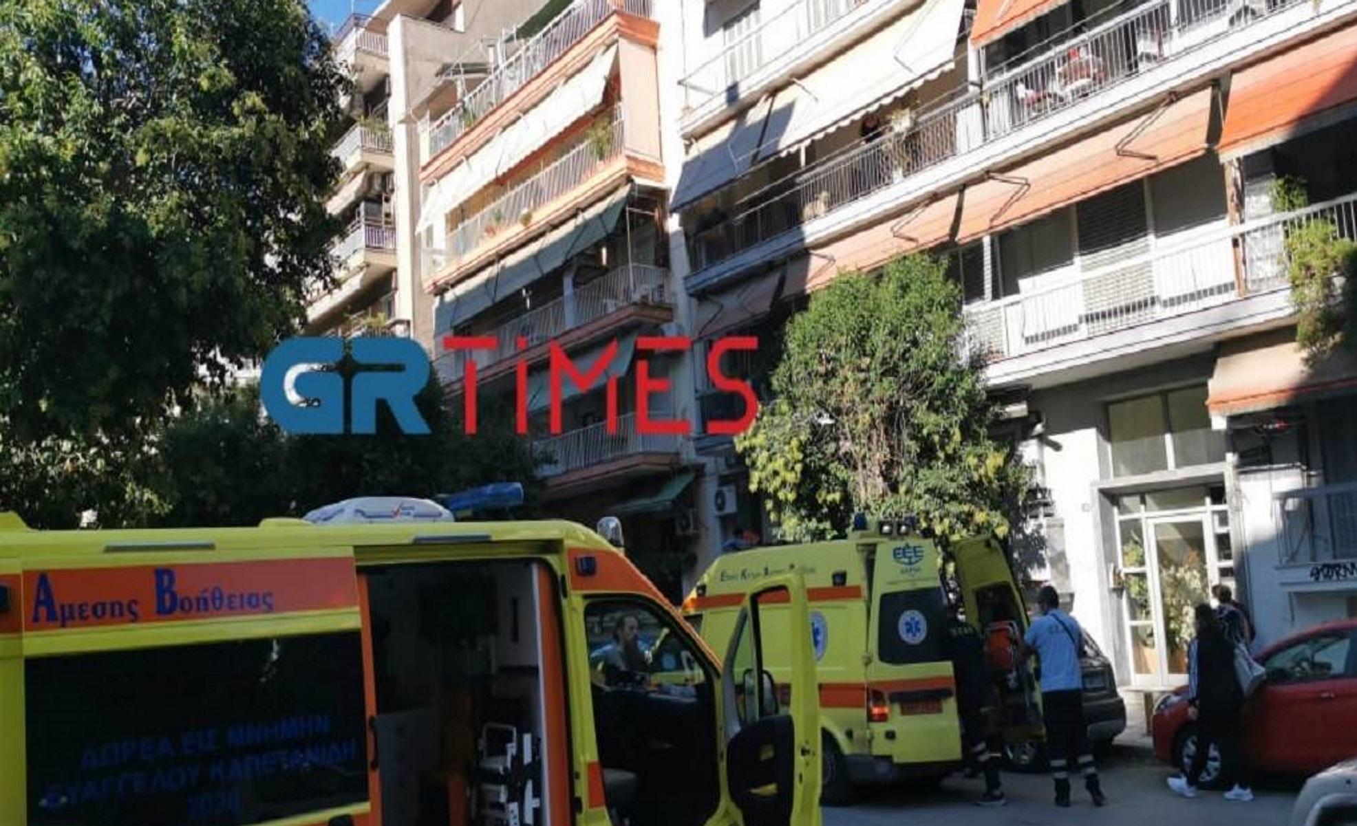 Θεσσαλονίκη: Άνδρας έπεσε από τον 2ο όροφο – Μεταφέρθηκε στο νοσοκομείο Παπαγεωργίου