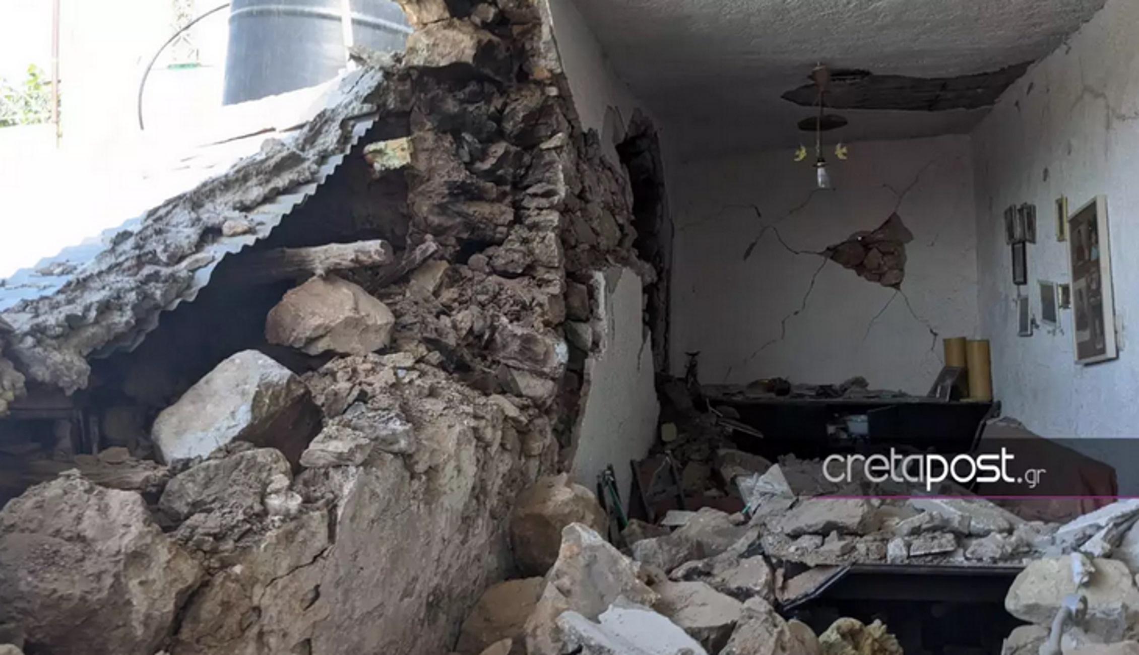 Σεισμός στην Κρήτη: Νέες εικόνες απόλυτης καταστροφής – «Δεν έμεινε τίποτα από τις περιουσίες μας»