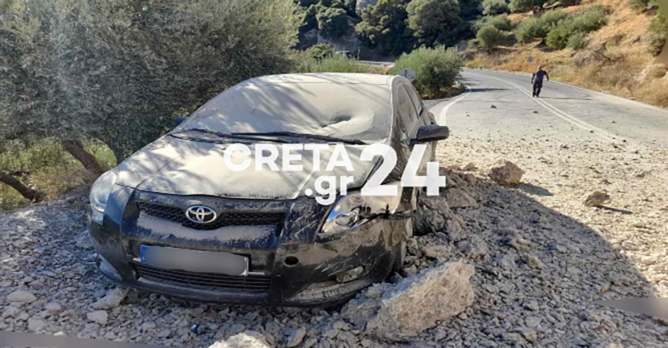 Σεισμός στην Κρήτη: Δείτε τη στιγμή του δραματικού απεγκλωβισμού από τα συντρίμμια του εγκέλαδου