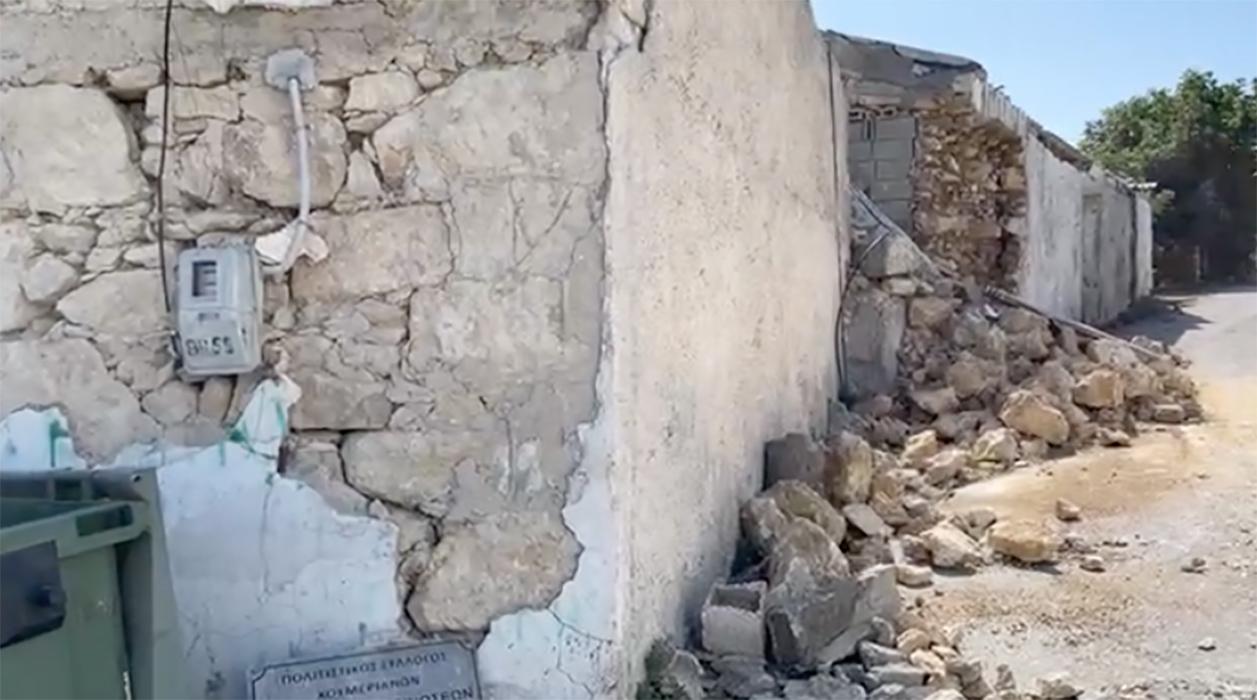 Σεισμός στην Κρήτη: Ισοπεδώθηκε το χωριό Χουμέρι