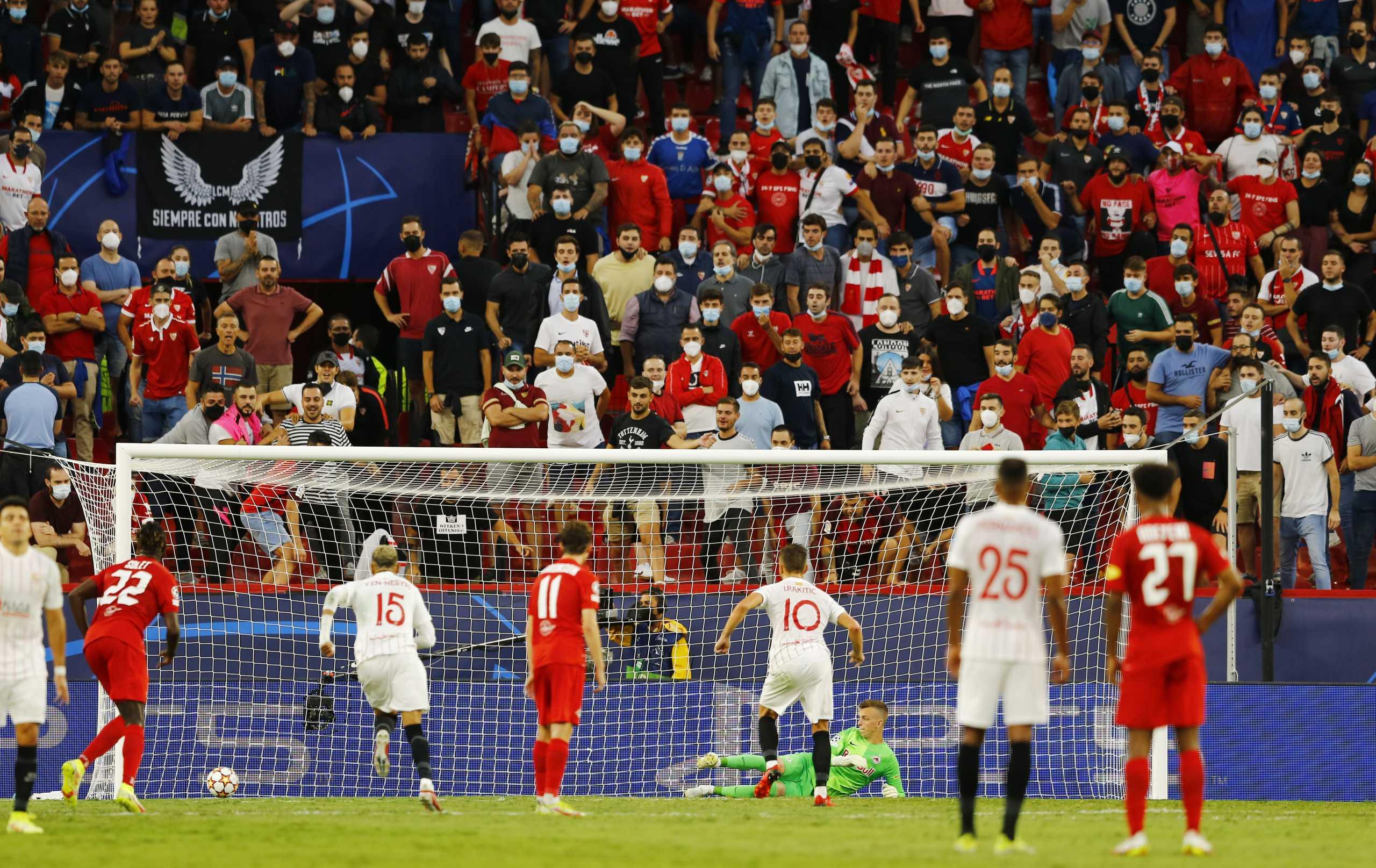 Champions League, Σεβίλλη – Σάλτσμπουργκ: Γράφτηκε ιστορία με τέσσερα πέναλτι στο πρώτο ημίχρονο