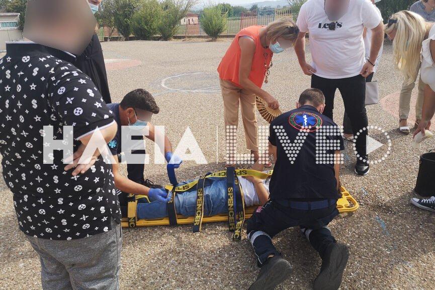 Πύργος: Τραυματισμός μαθητή την πρώτη μέρα στο σχολείο – Σε κατάσταση σοκ ο αδερφός του