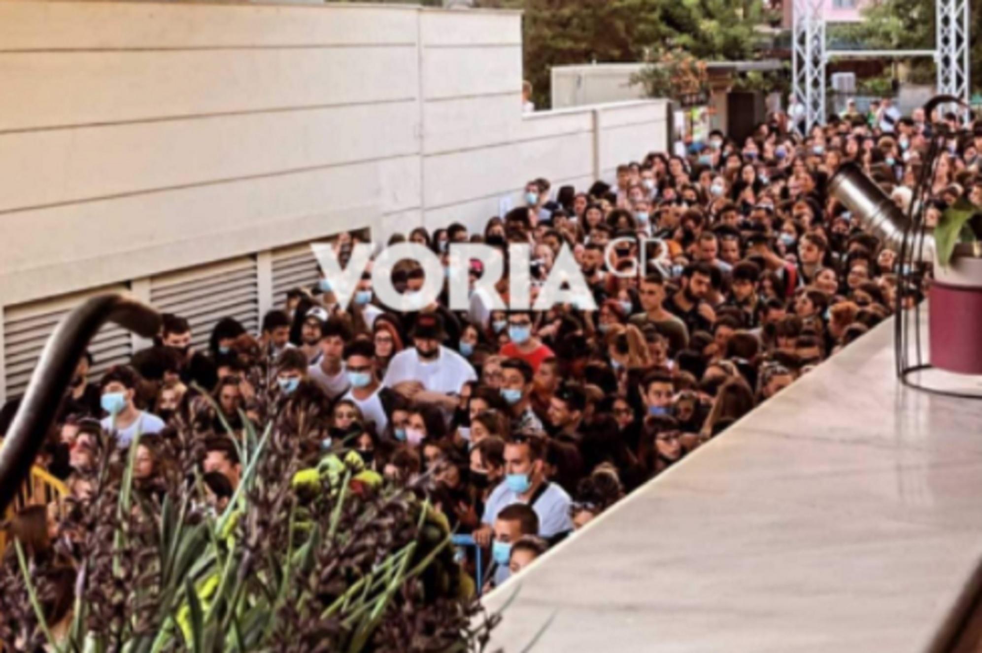 Θεσσαλονίκη: Απίστευτος συνωστισμός σε συναυλία γνωστού hip hop συγκροτήματος