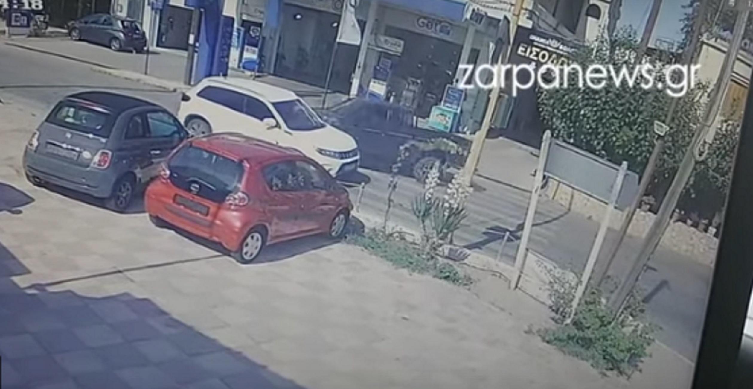 Κρήτη: Βίντεο ντοκουμέντο από τροχαίο στα Χανιά – Η στιγμή της σύγκρουσης στα φανάρια