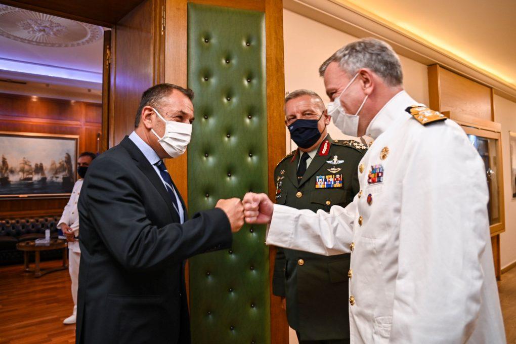 ΥΕΘΑ: Ο Νίκος Παναγιωτόπουλος υποδέχθηκε τον Πρόεδρο της Στρατιωτικής Επιτροπής του ΝΑΤΟ