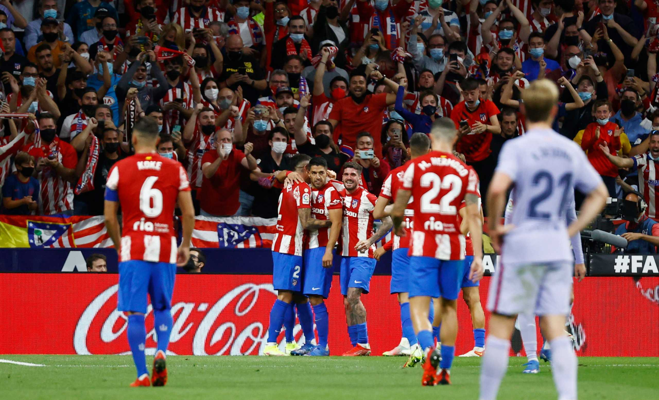 La Liga, Ατλέτικο Μαδρίτης – Μπαρτσελόνα 2-0: Εύκολη νίκη για τους «ροχιμπλάνκος»