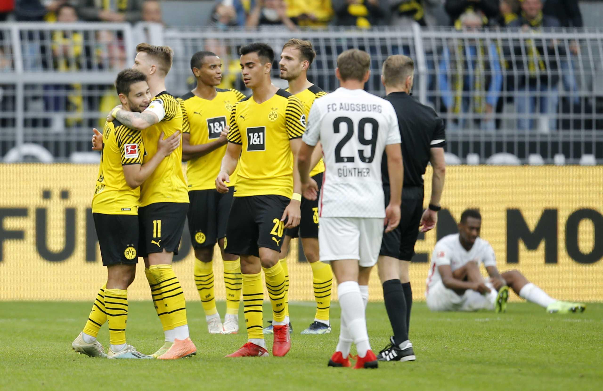 Bundesliga, Ντόρτμουντ – Άουγκσμπουργκ 2-1: Μπορούν και χωρίς Χάαλαντ οι Βεστφαλοί