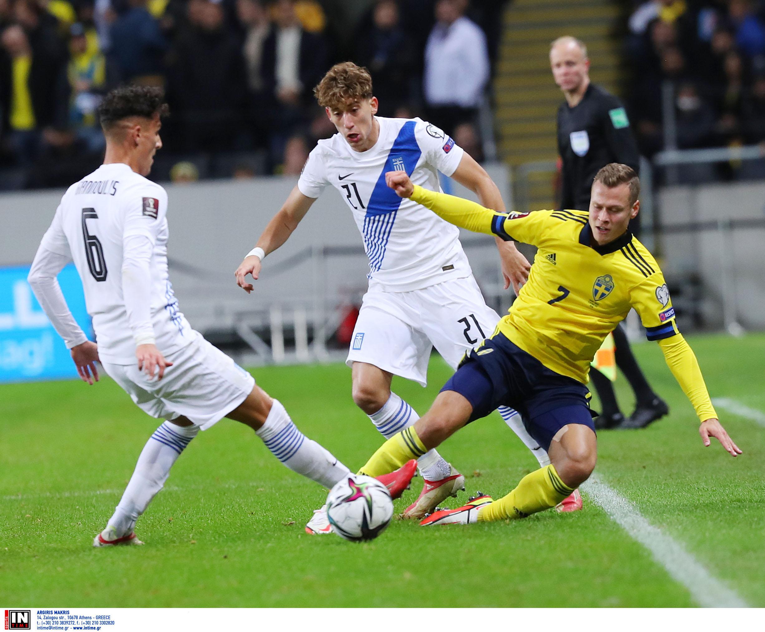 Σουηδία – Ελλάδα 2-0 ΤΕΛΙΚΟ: Μεγάλη προσπάθεια αλλά ήττα στην Στοκχόλμη