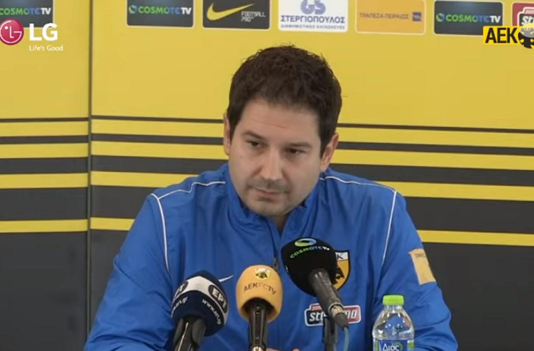 ΑΕΚ – Αργύρης Γιαννίκης: Η παρουσίαση του νέου προπονητή της Ένωσης