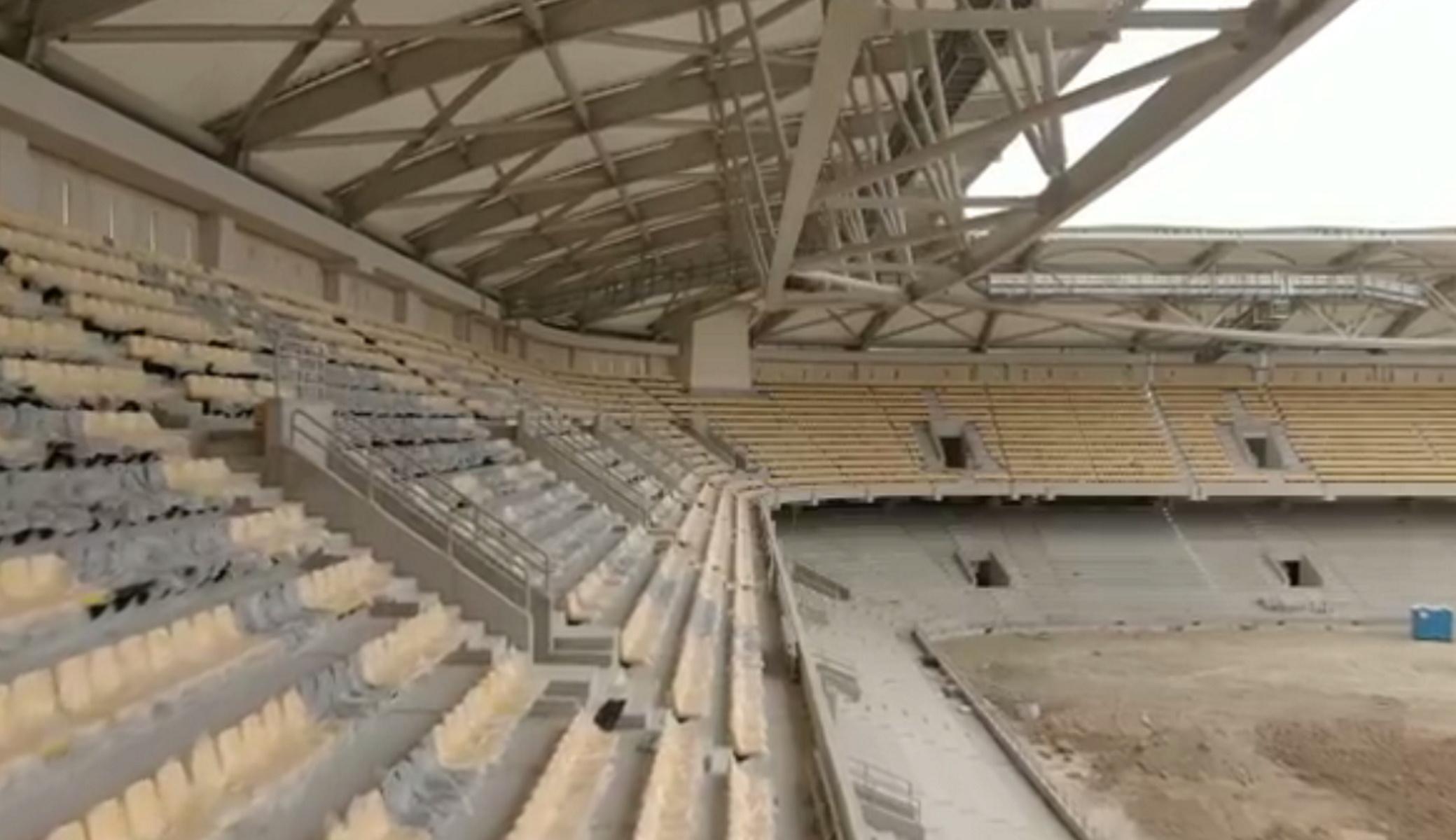 Γήπεδο ΑΕΚ: «Βόλτα» στο κιτρινόμαυρο διάζωμα της «ΟΠΑΠ Αρένα»