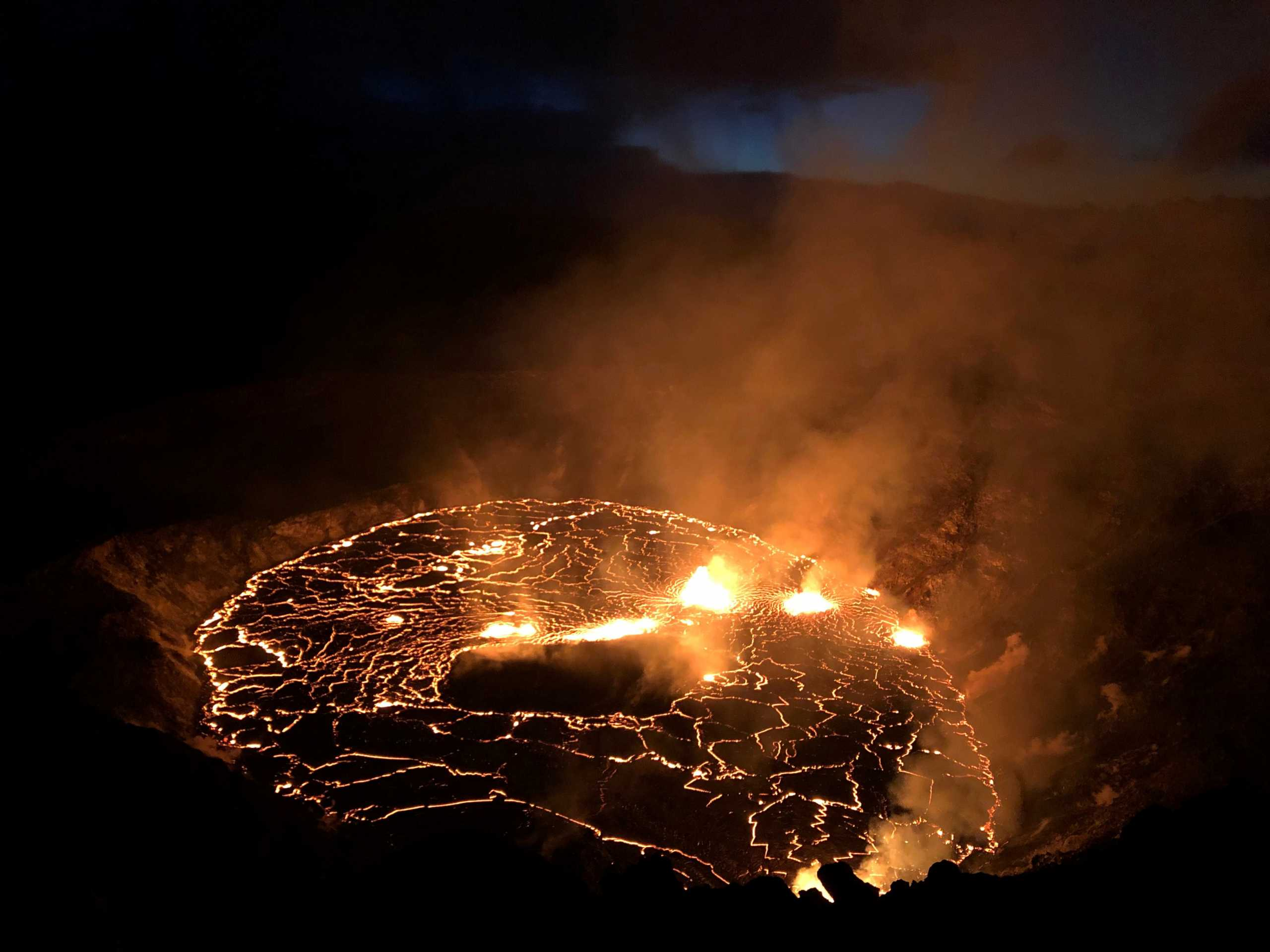 Έκρηξη ηφαιστείου Κιλαουέα στη Χαβάη: «Tα μαλλιά του Πελέ» είδαν πιλότοι