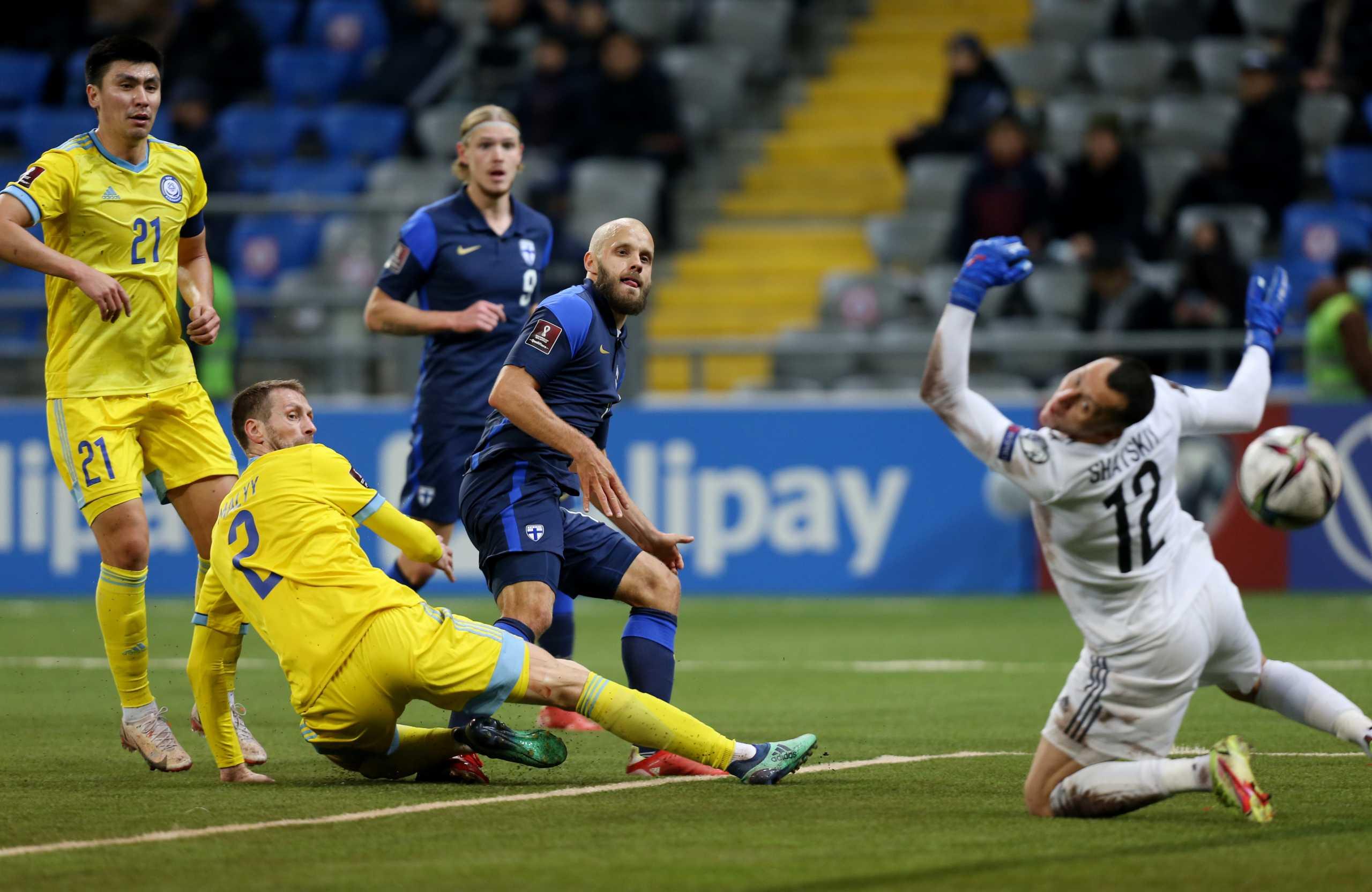 Προκριματικά Μουντιάλ 2022, Καζακστάν – Φινλανδία 0-2: Ο Πούκι ξεπέρασε τον Λιτμάνεν