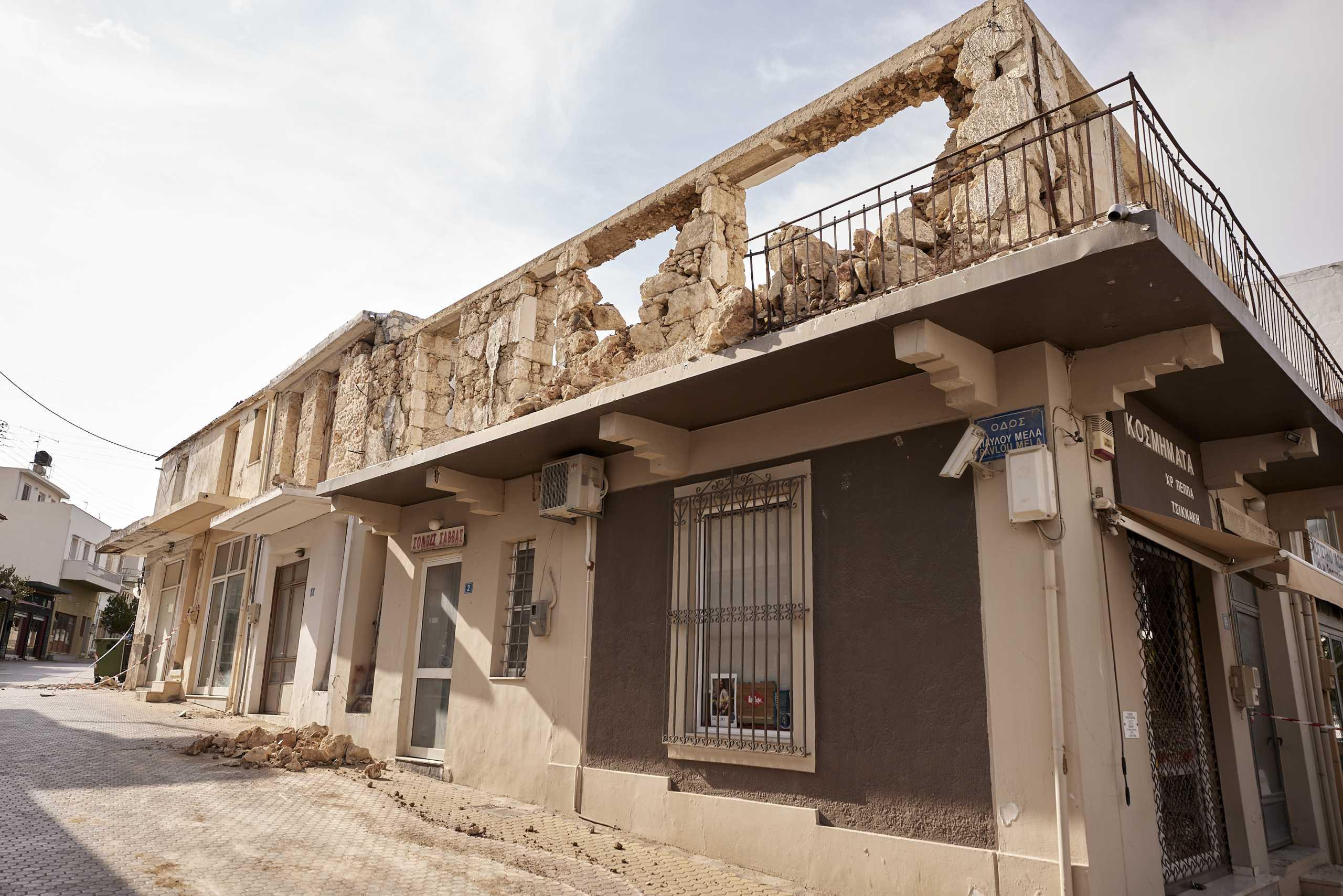 Σεισμός στην Κρήτη: Πάνω από 3.000 σπίτια κρίθηκαν μη κατοικήσιμα