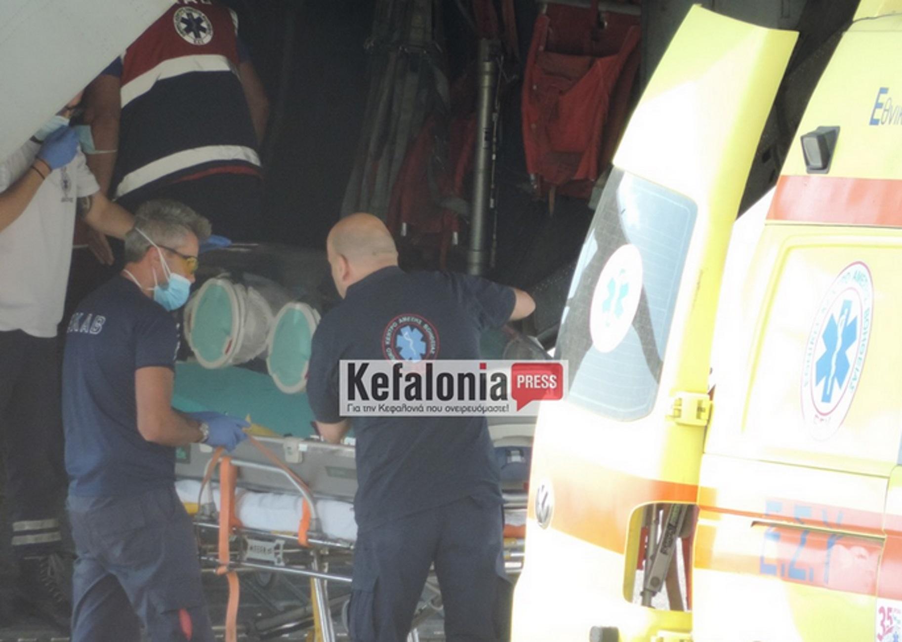Κεφαλονιά: Αεροδιακομιδή ασθενούς με κορονοϊό μέσα σε ειδική κάψουλα – Κρίσιμες οι επόμενες μέρες