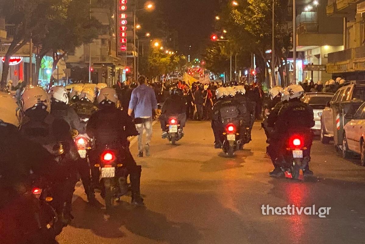 Θεσσαλονίκη: Δύο συλλήψεις μετά τα επεισόδια σε αντιφασιστική πορεία