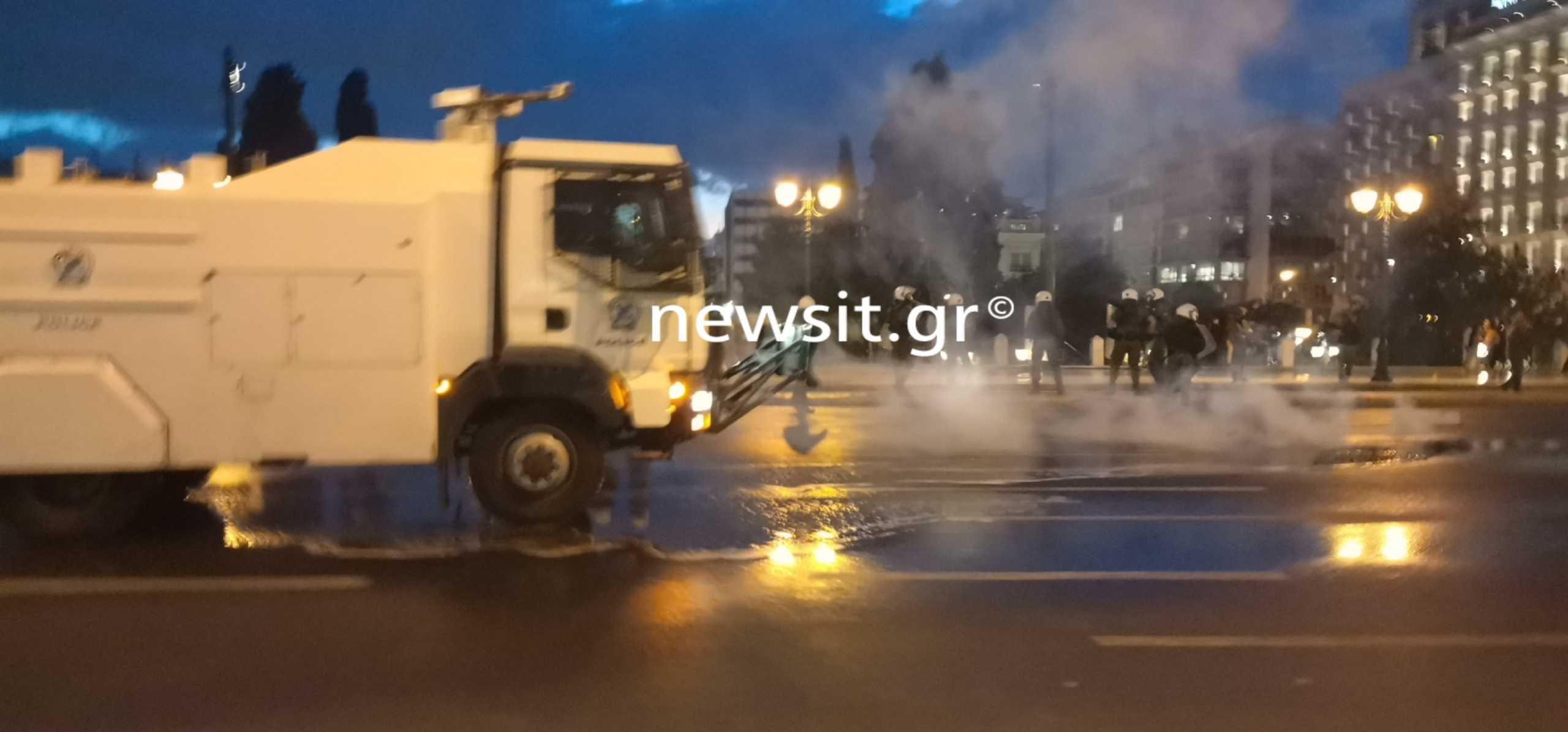 Σύνταγμα: Επεισόδια στο πανεκπαιδευτικό συλλαλητήριο