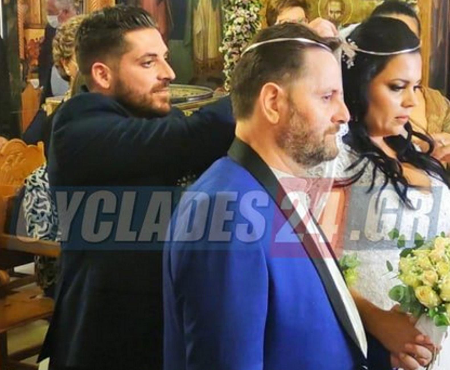 Λευτέρης Βαζαίος: Νησιώτικος γάμος για τον τραγουδιστή μετά από 7 χρόνια σχέσης – Έλαμπαν γαμπρός και νύφη