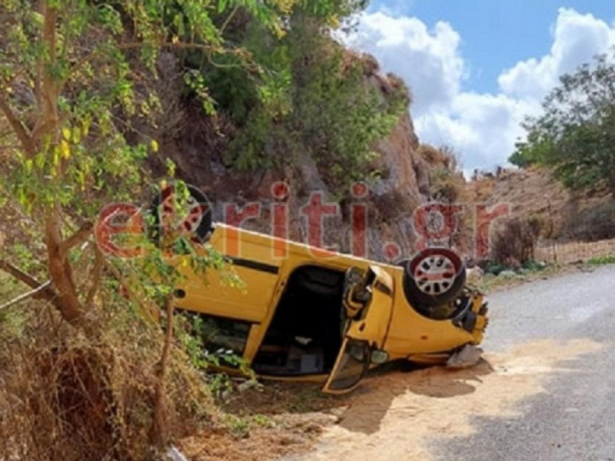 Κρήτη: Η στιγμή του θανατηφόρου τροχαίου – Το αυτοκίνητο προσγειώθηκε σε δημοτικό δρόμο