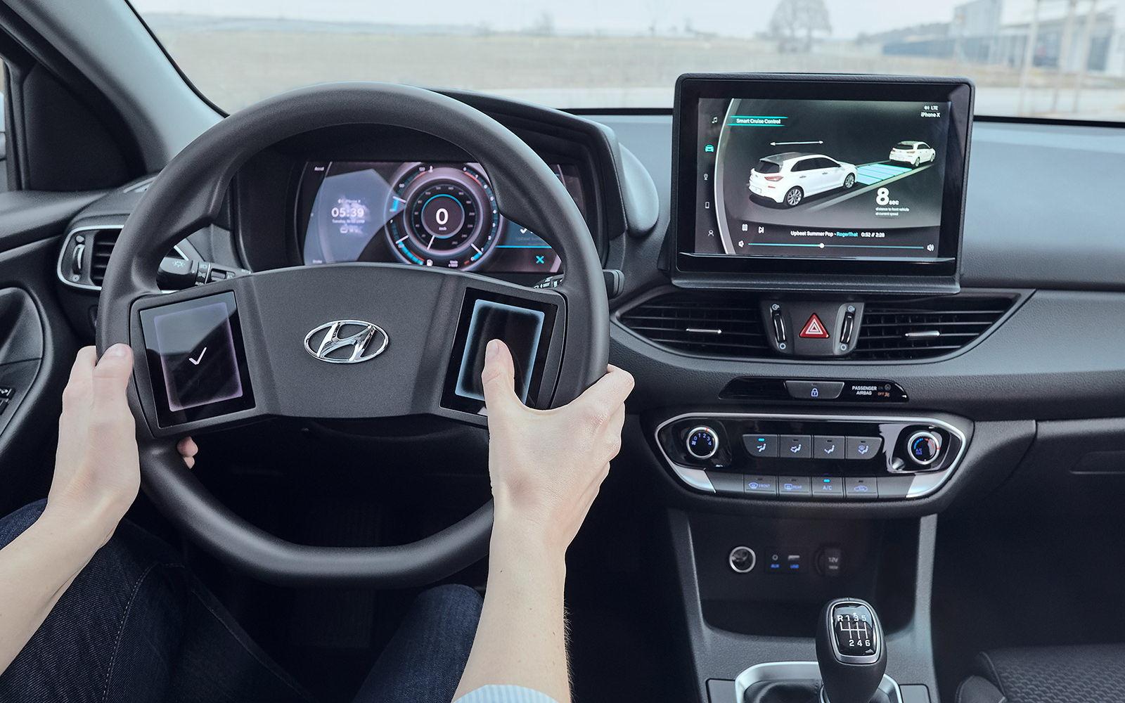 Hyundai: Κατέθεσε πατέντα ενός τιμονιού με οθόνη στο κέντρο του!