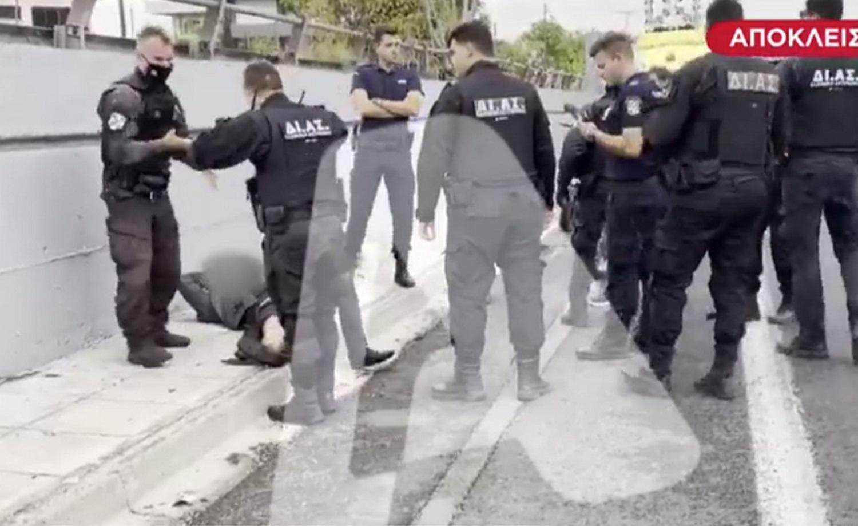Γέφυρα Καλυφτάκη: Εικόνες ντοκουμέντα με τον τραυματία από τους πυροβολισμούς