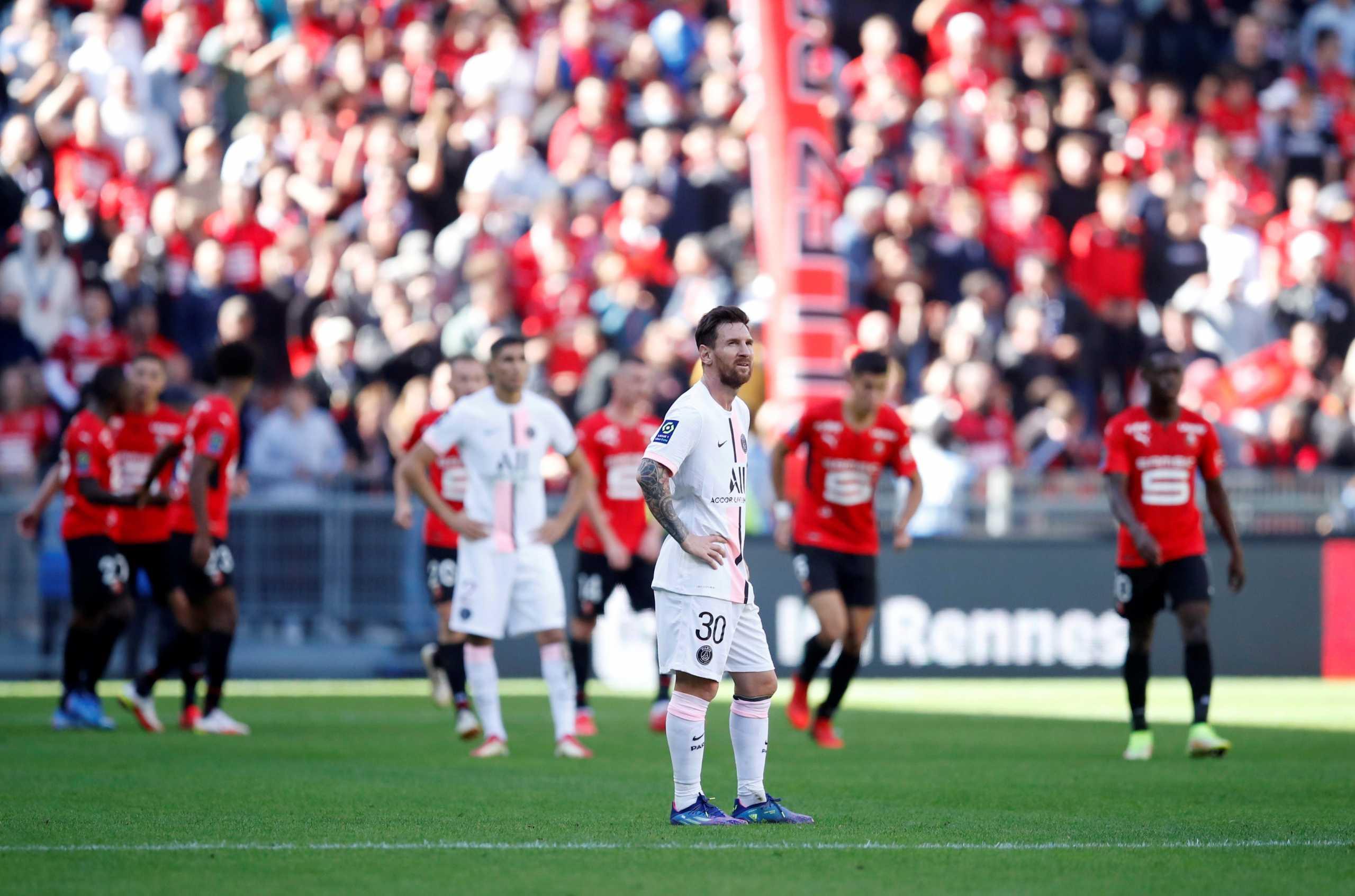 Ligue 1, Ρεν – Παρί Σεν Ζερμέν 2-0: «Σφαλιάρα» για Μέσι, Νέιμαρ και Εμπαπέ