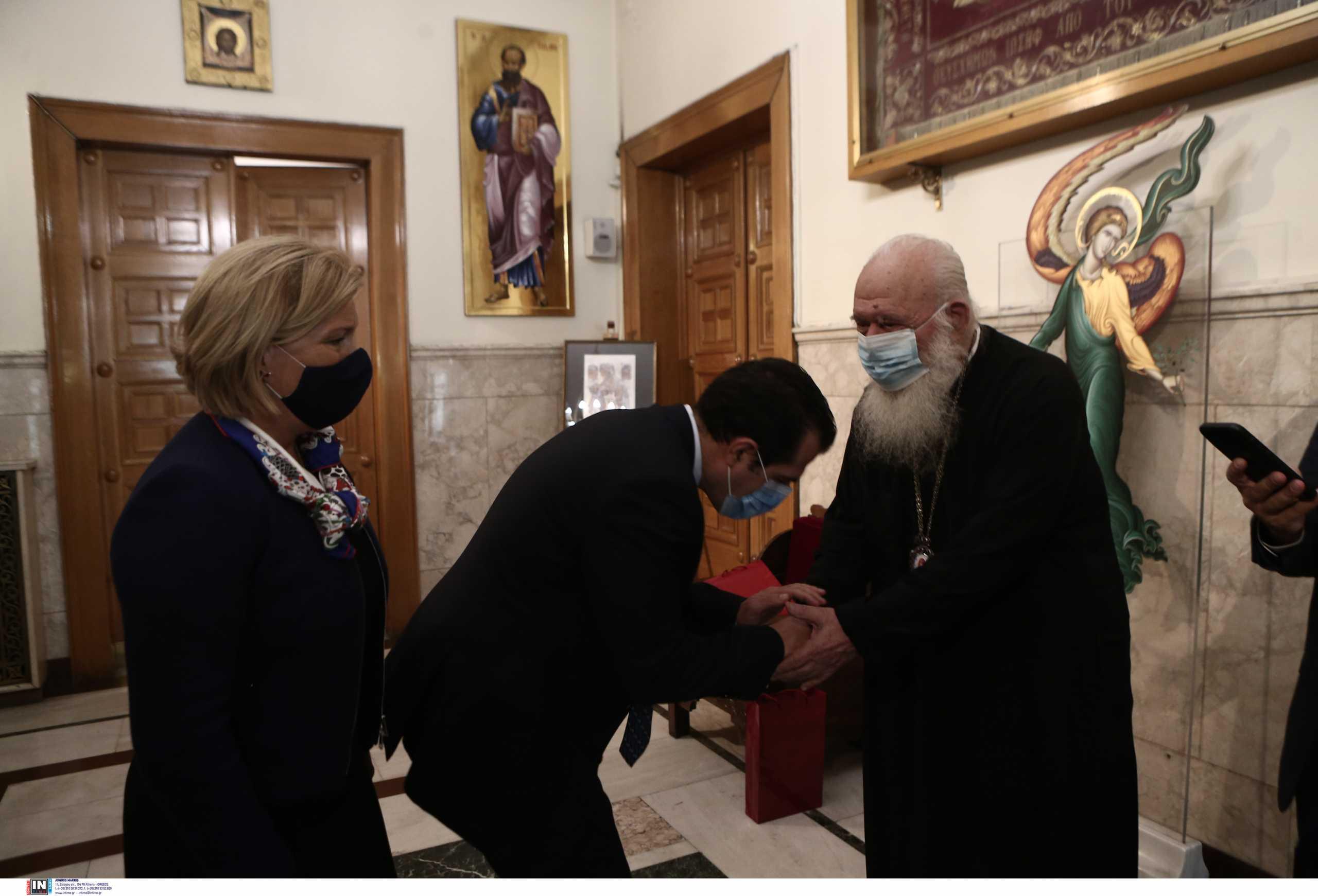 Ο Ιερώνυμος διαβεβαίωσε Πλεύρη και Γκάγκα: Η Εκκλησία αρωγός για τους εμβολιασμούς