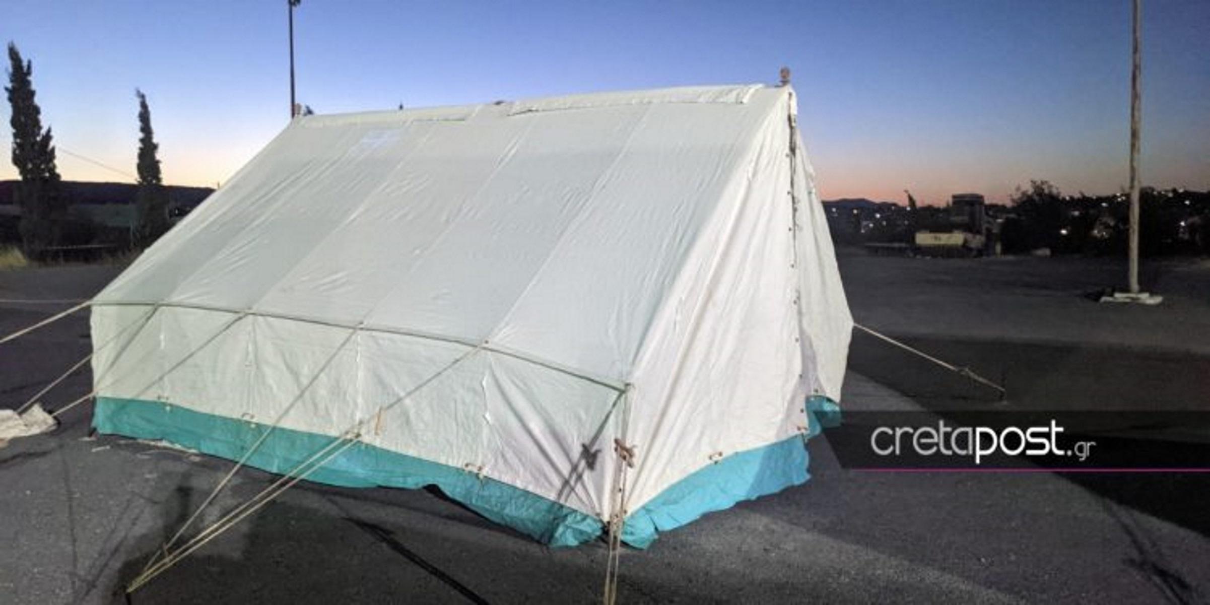 Κρούσματα κορονοϊού σε καταυλισμούς σεισμόπληκτων στην Κρήτη