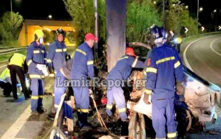 Τροχαίο στην Λαμία: «Καρφώθηκε» σε κολόνα και απανθρακώθηκε