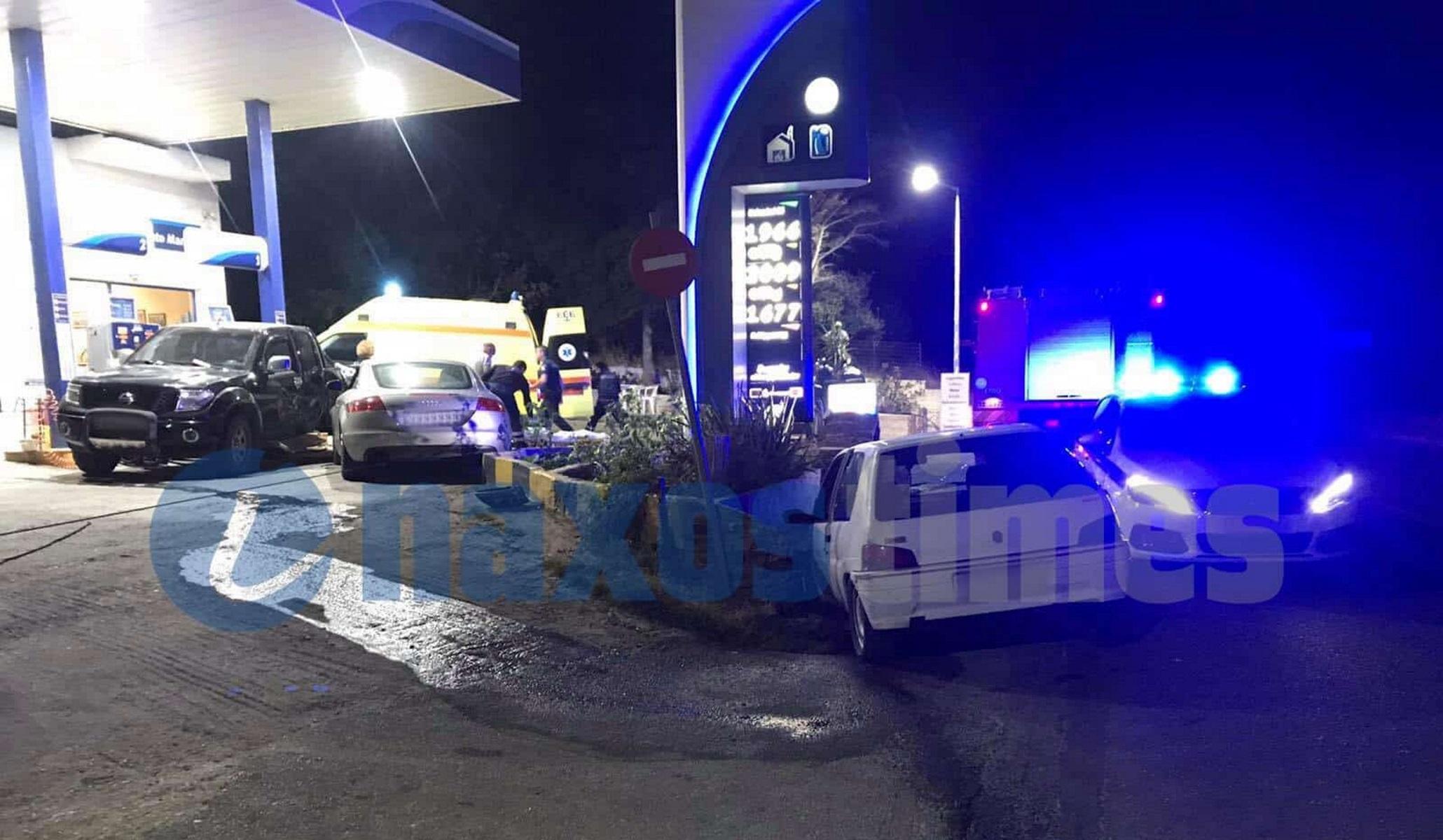 Νάξος: Σοβαρό τροχαίο σε βενζινάδικο – Ακρωτηριάστηκε οδηγός